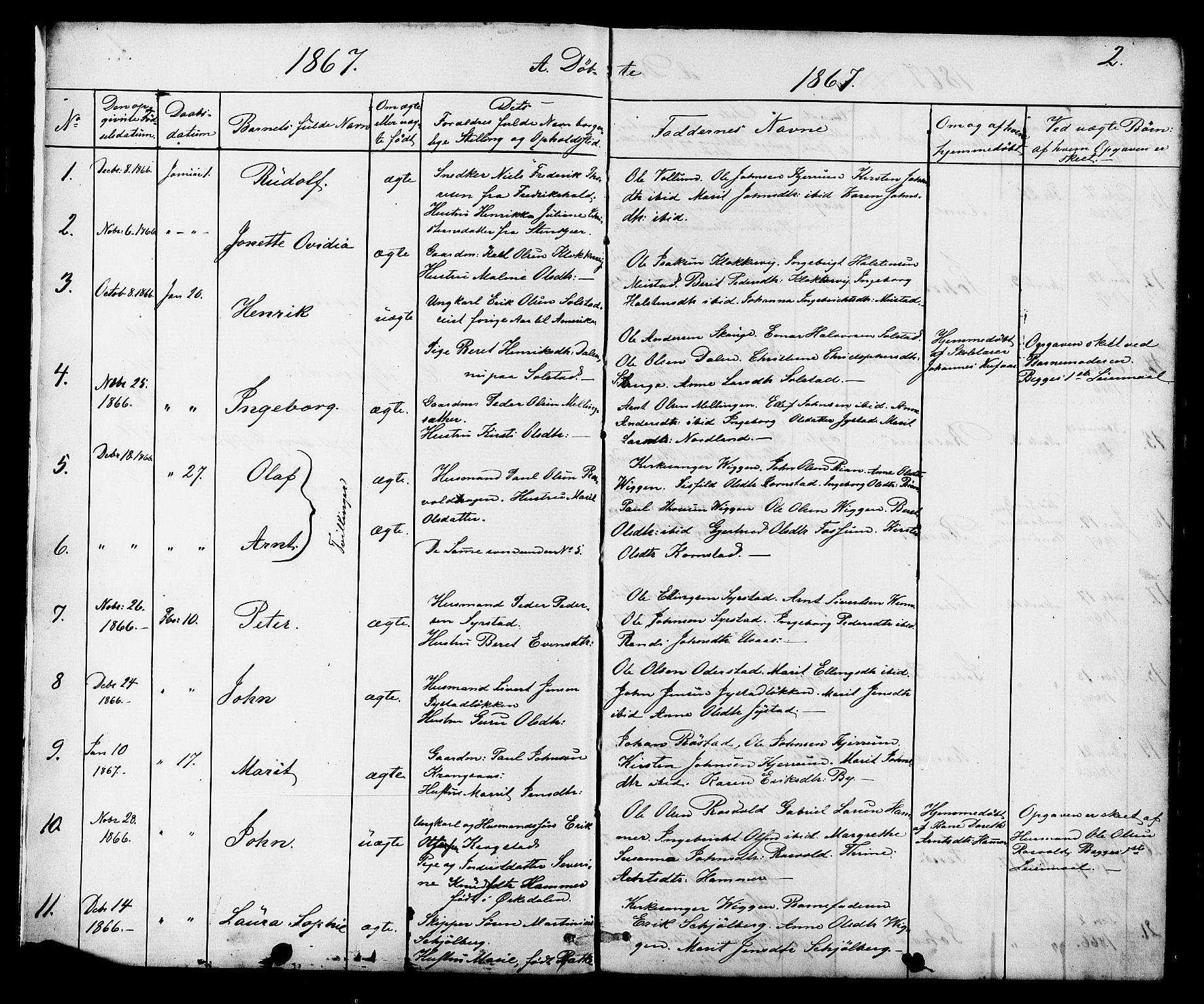 SAT, Ministerialprotokoller, klokkerbøker og fødselsregistre - Sør-Trøndelag, 665/L0777: Klokkerbok nr. 665C02, 1867-1915, s. 2