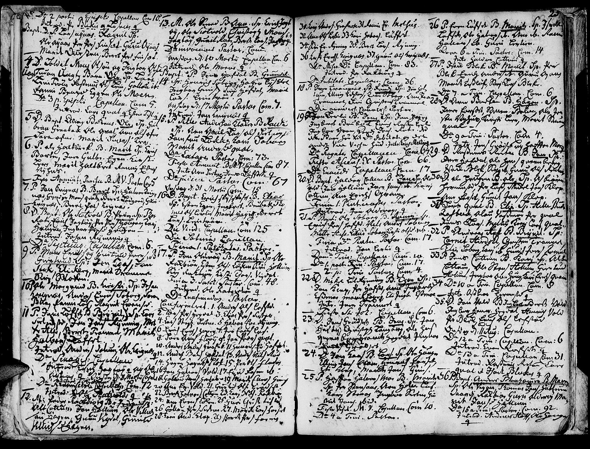 SAT, Ministerialprotokoller, klokkerbøker og fødselsregistre - Sør-Trøndelag, 691/L1057: Ministerialbok nr. 691A01 /1, 1740-1767, s. 25