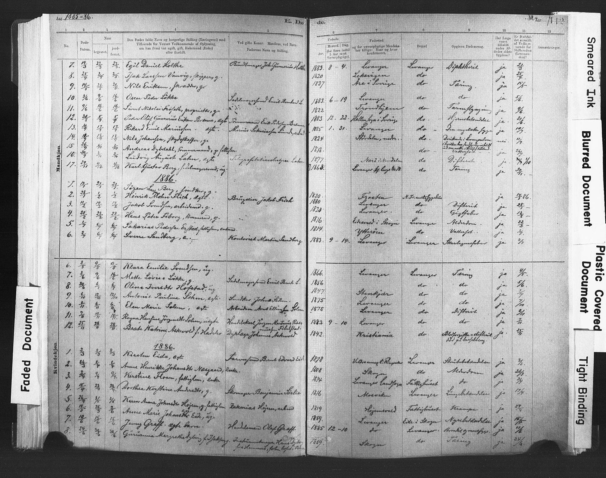SAT, Ministerialprotokoller, klokkerbøker og fødselsregistre - Nord-Trøndelag, 720/L0189: Ministerialbok nr. 720A05, 1880-1911, s. 112