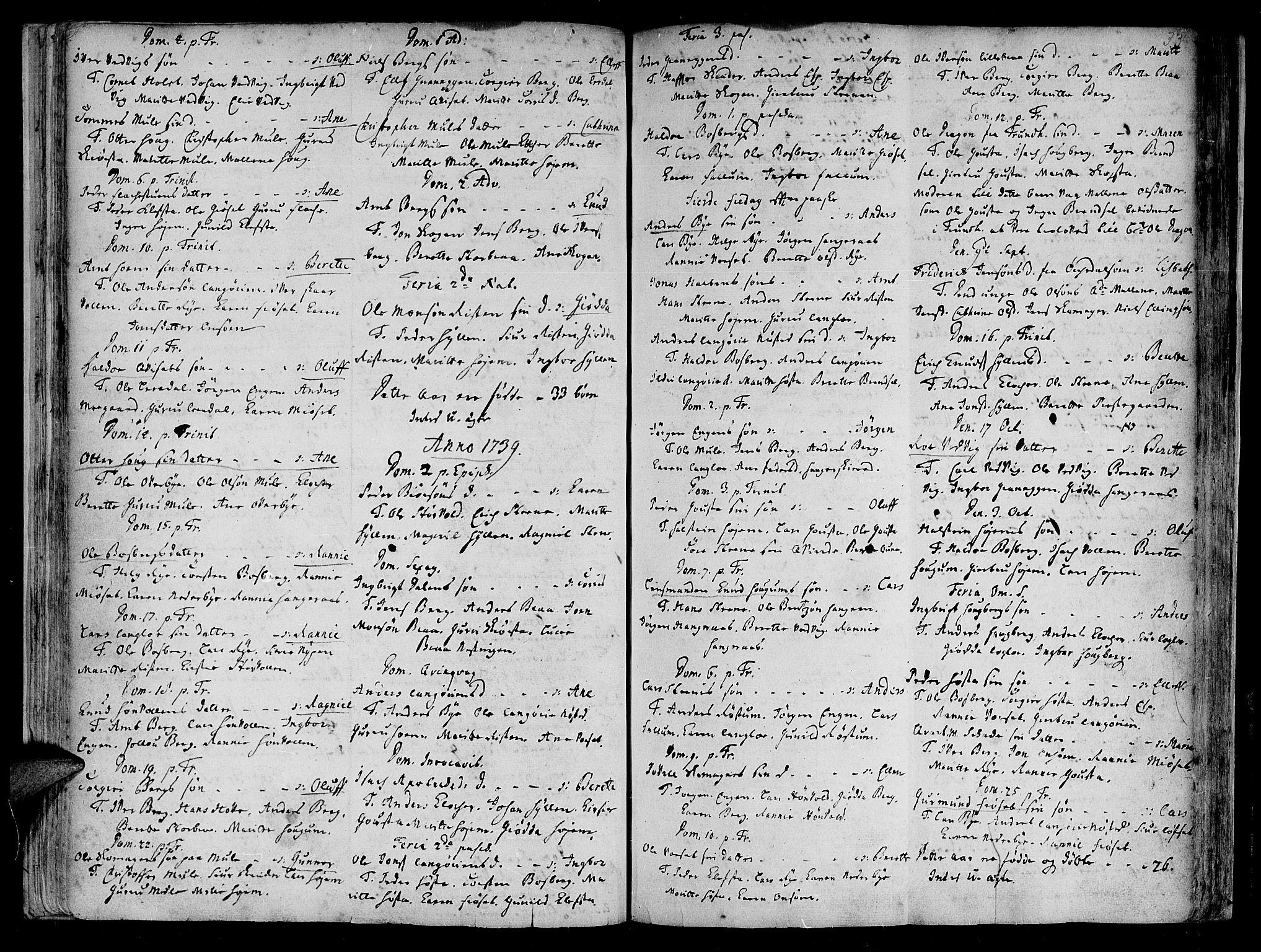 SAT, Ministerialprotokoller, klokkerbøker og fødselsregistre - Sør-Trøndelag, 612/L0368: Ministerialbok nr. 612A02, 1702-1753, s. 33