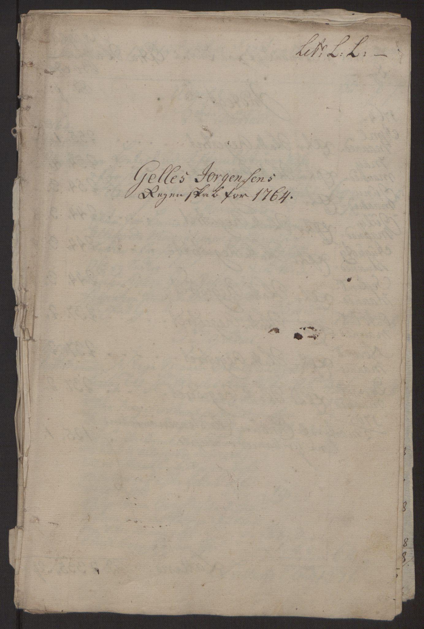 RA, Rentekammeret inntil 1814, Reviderte regnskaper, Byregnskaper, R/Rp/L0368: [P21] Kontribusjonsregnskap, 1764, s. 57