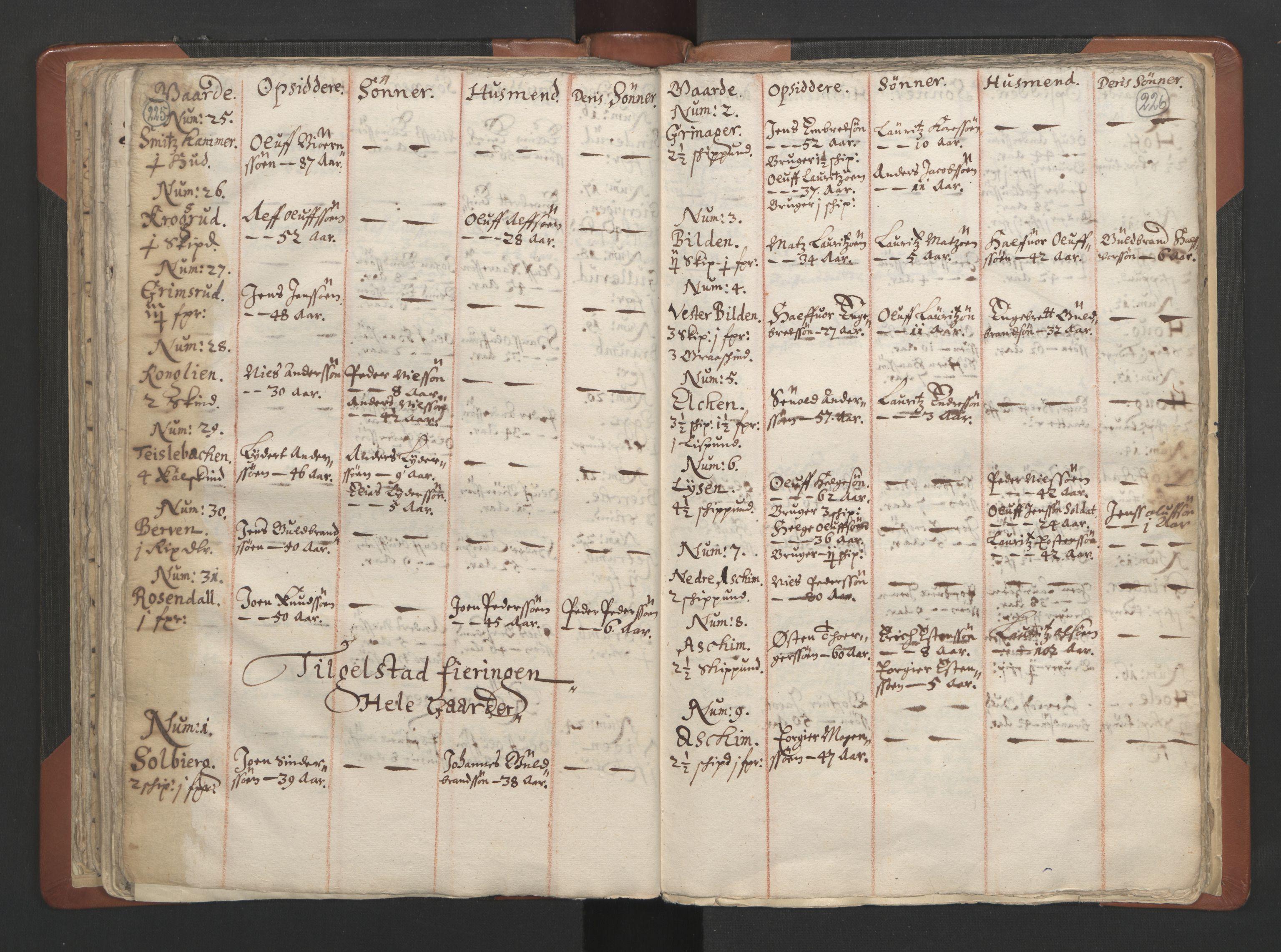 RA, Sogneprestenes manntall 1664-1666, nr. 7: Hadeland prosti, 1664-1666, s. 225-226