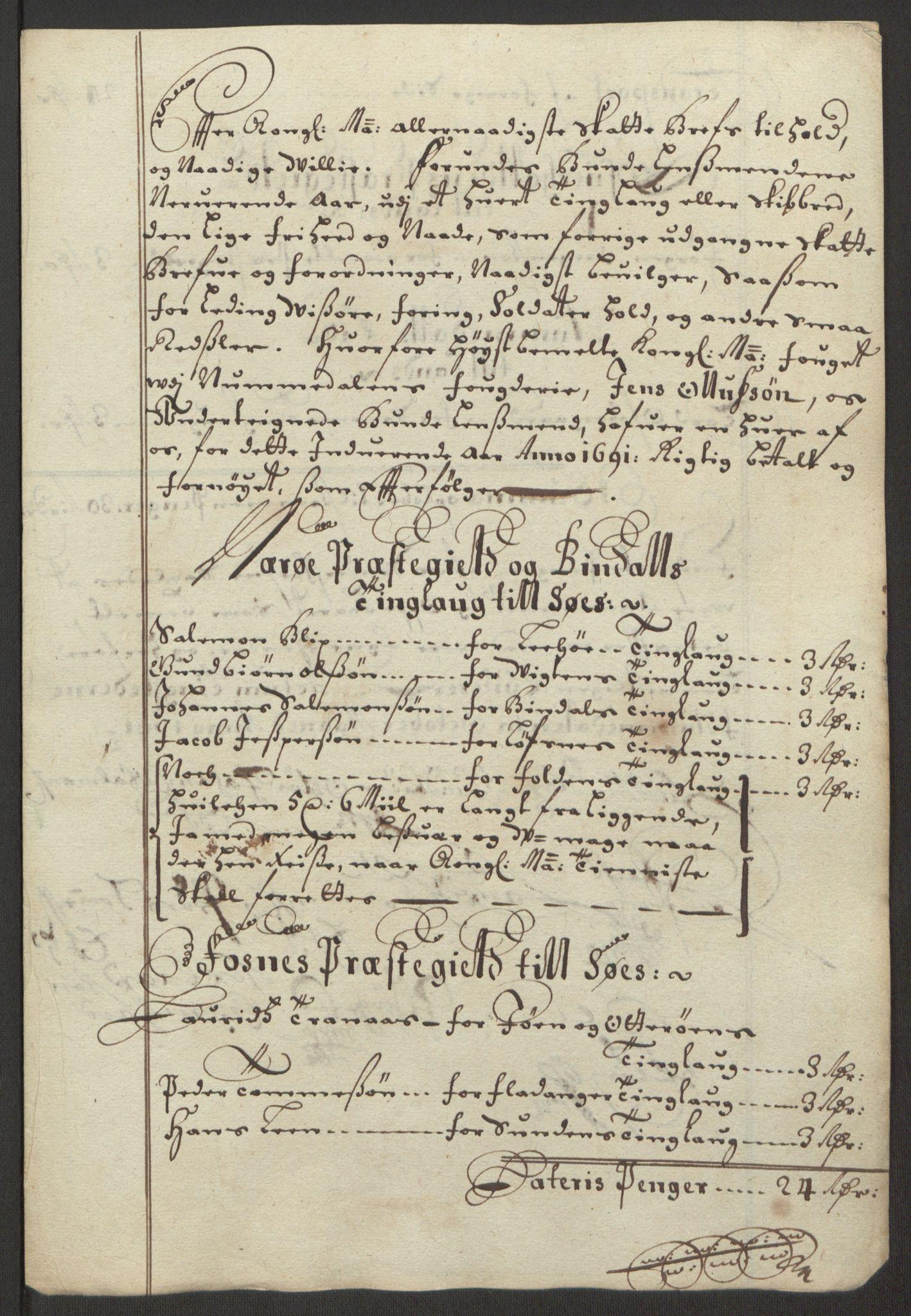 RA, Rentekammeret inntil 1814, Reviderte regnskaper, Fogderegnskap, R64/L4423: Fogderegnskap Namdal, 1690-1691, s. 347