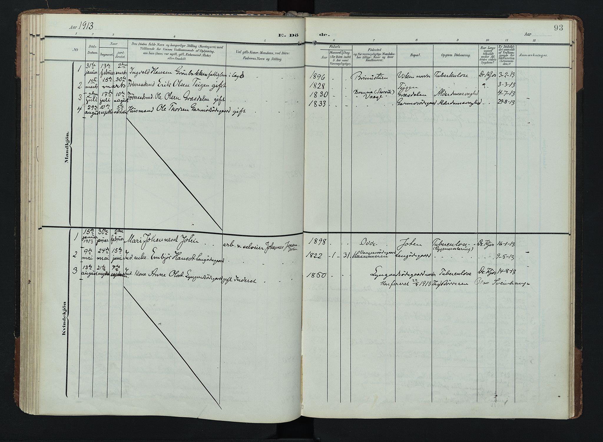 SAH, Lom prestekontor, K/L0011: Ministerialbok nr. 11, 1904-1928, s. 93