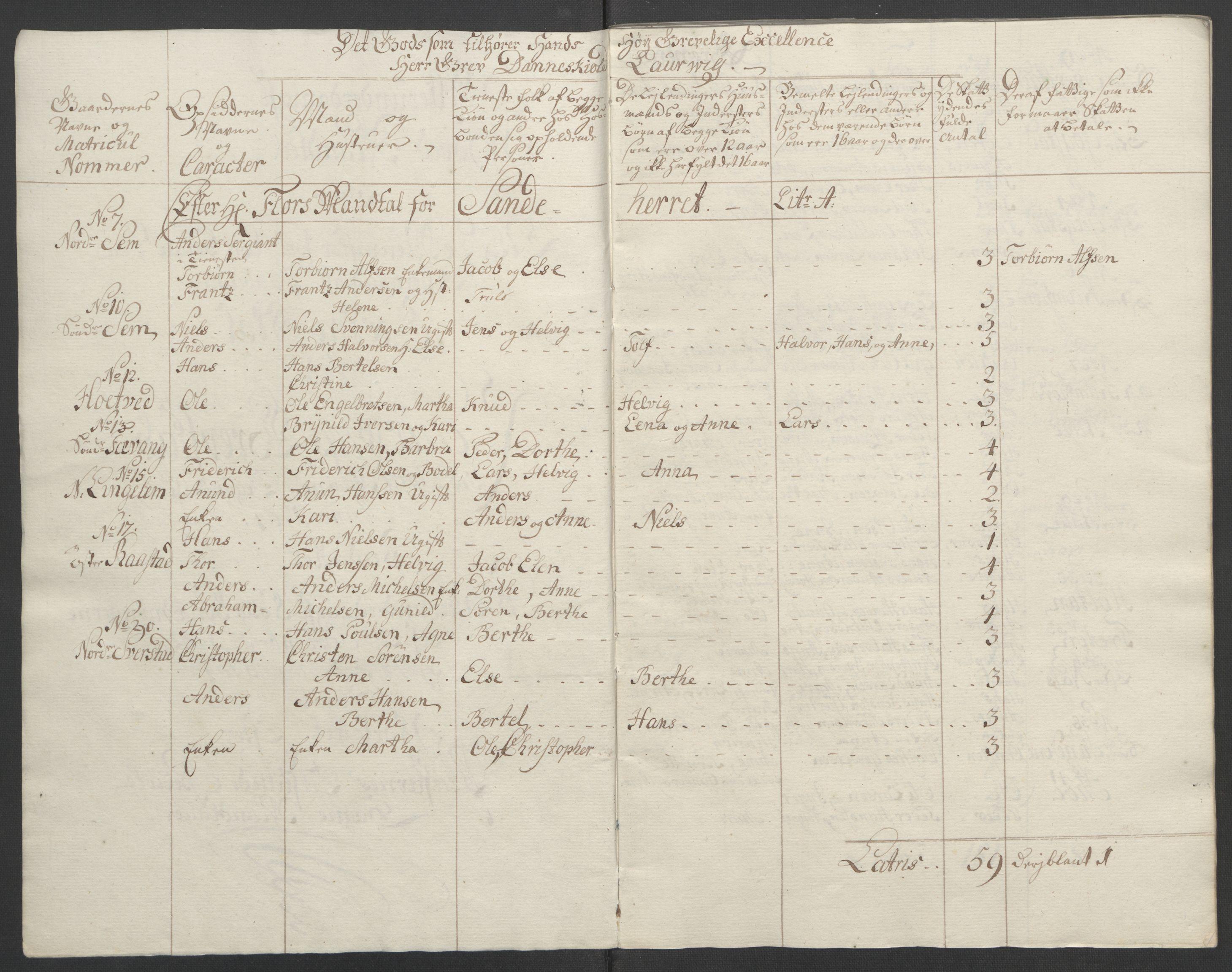 RA, Rentekammeret inntil 1814, Reviderte regnskaper, Fogderegnskap, R33/L2033: Ekstraskatten Larvik grevskap, 1762-1764, s. 493