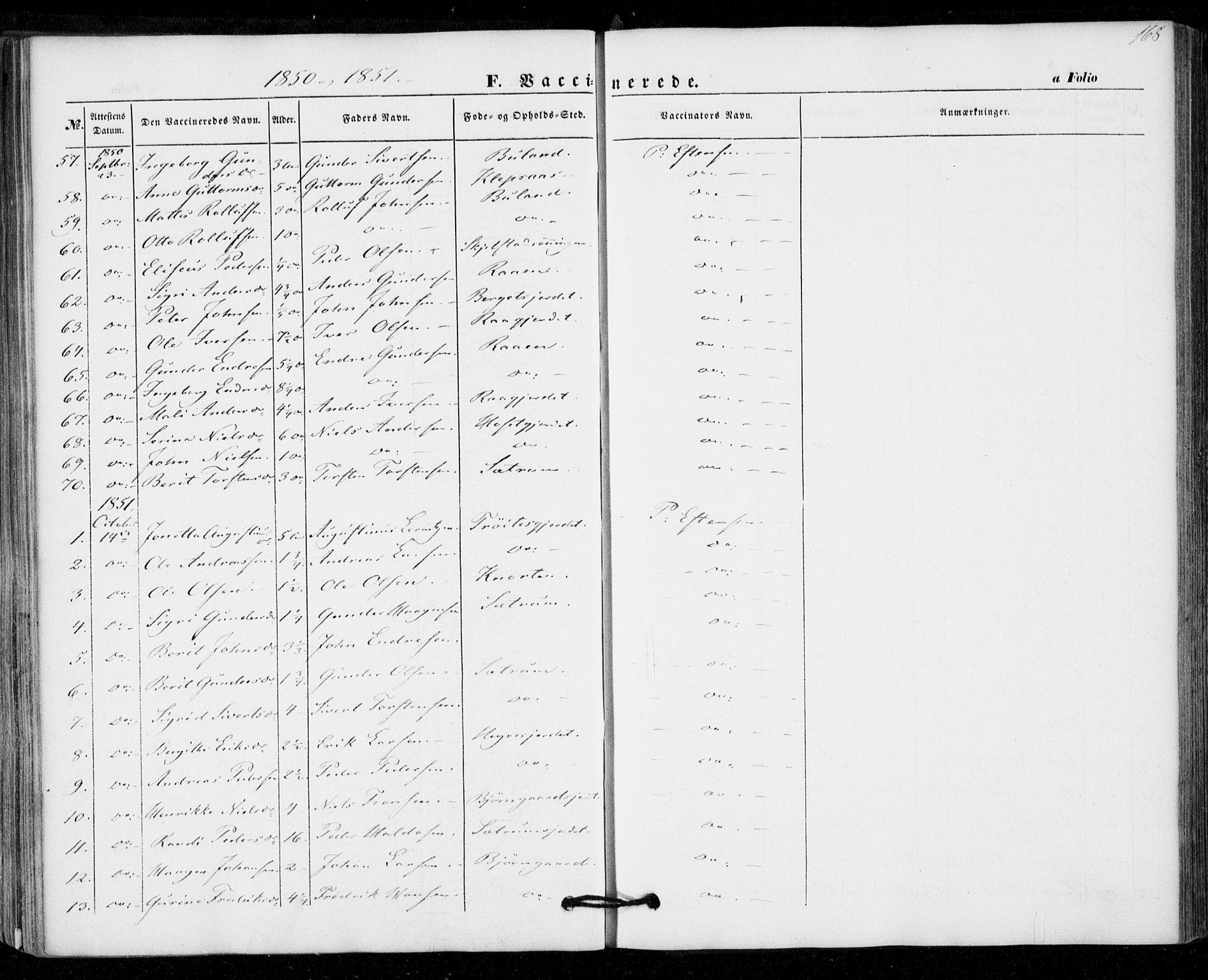 SAT, Ministerialprotokoller, klokkerbøker og fødselsregistre - Nord-Trøndelag, 703/L0028: Ministerialbok nr. 703A01, 1850-1862, s. 168