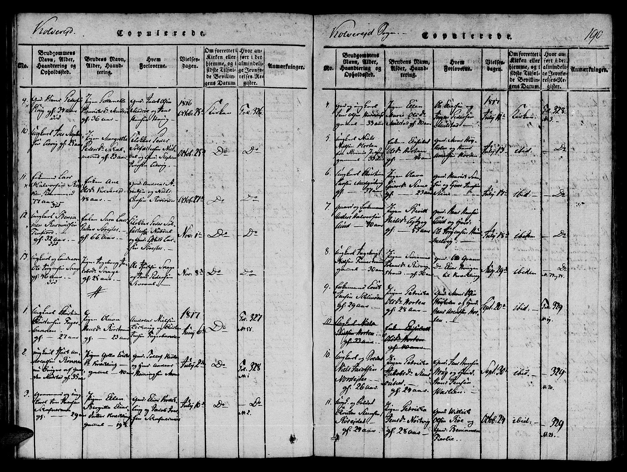 SAT, Ministerialprotokoller, klokkerbøker og fødselsregistre - Nord-Trøndelag, 780/L0636: Ministerialbok nr. 780A03 /1, 1815-1830, s. 190