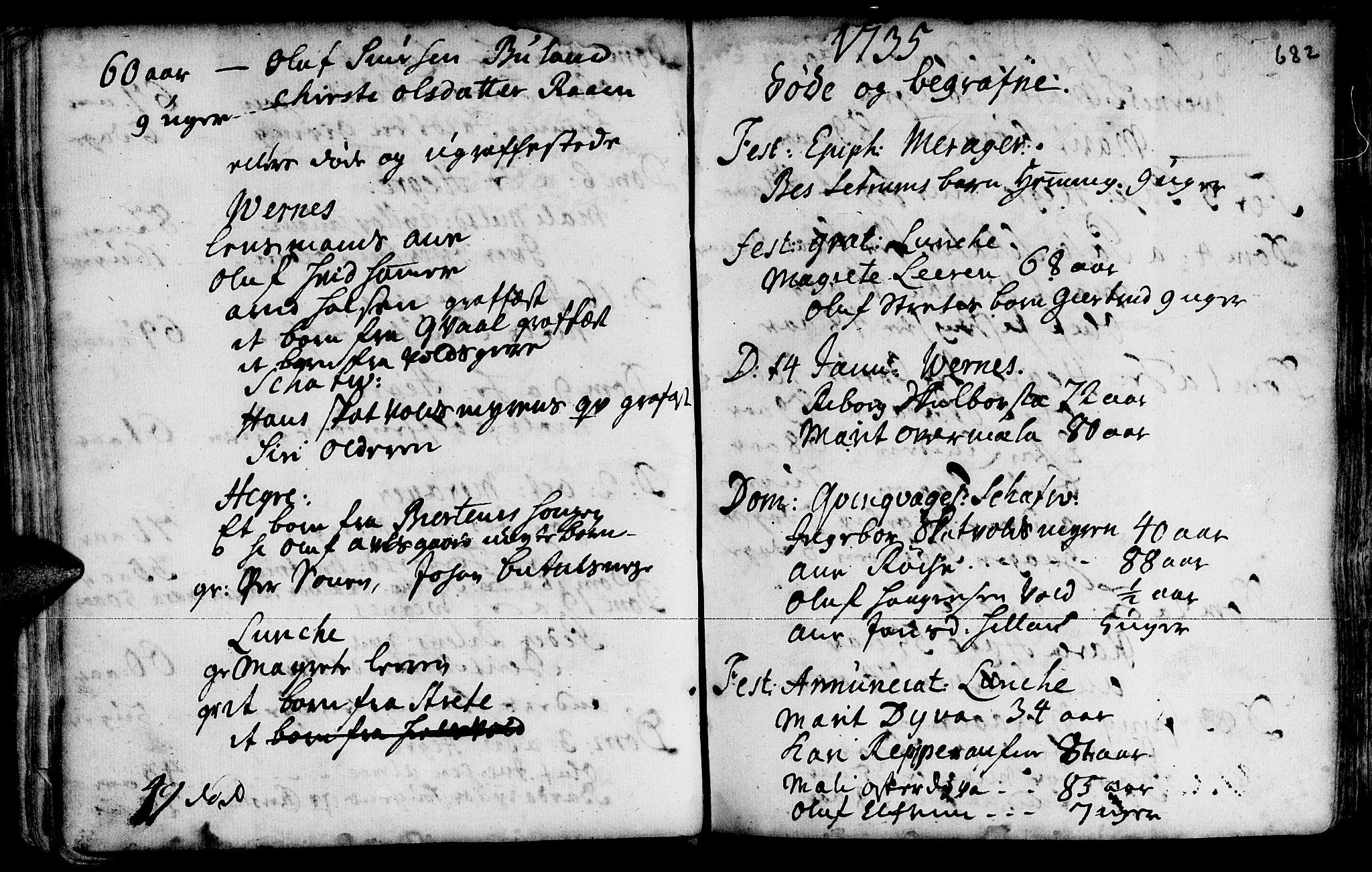 SAT, Ministerialprotokoller, klokkerbøker og fødselsregistre - Nord-Trøndelag, 709/L0055: Ministerialbok nr. 709A03, 1730-1739, s. 681-682