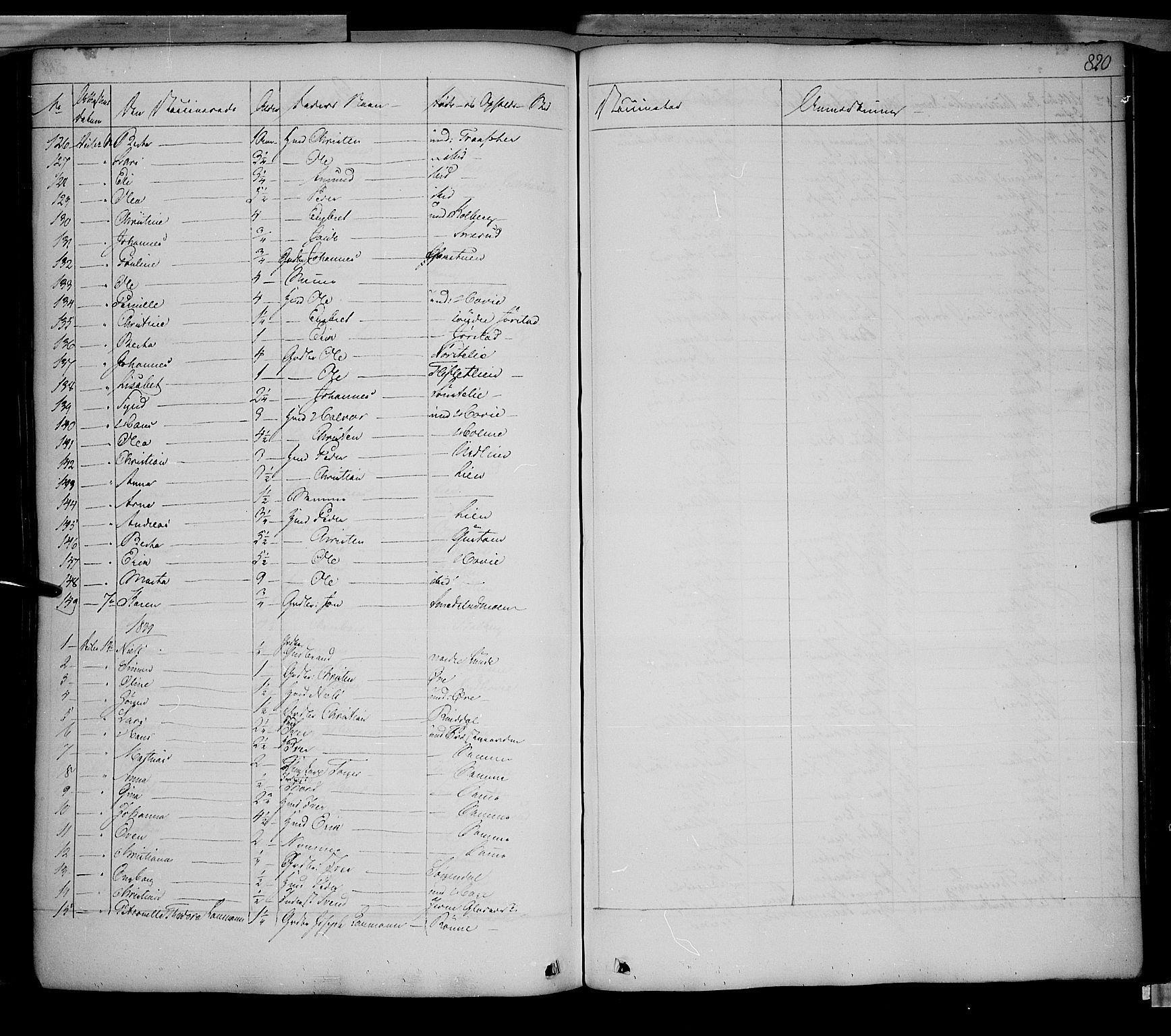 SAH, Fåberg prestekontor, Ministerialbok nr. 5, 1836-1854, s. 819-820