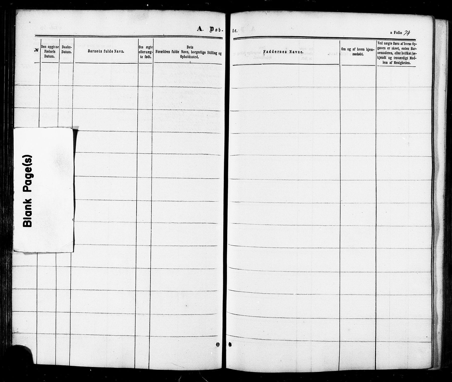 SAT, Ministerialprotokoller, klokkerbøker og fødselsregistre - Sør-Trøndelag, 674/L0870: Ministerialbok nr. 674A02, 1861-1879, s. 74