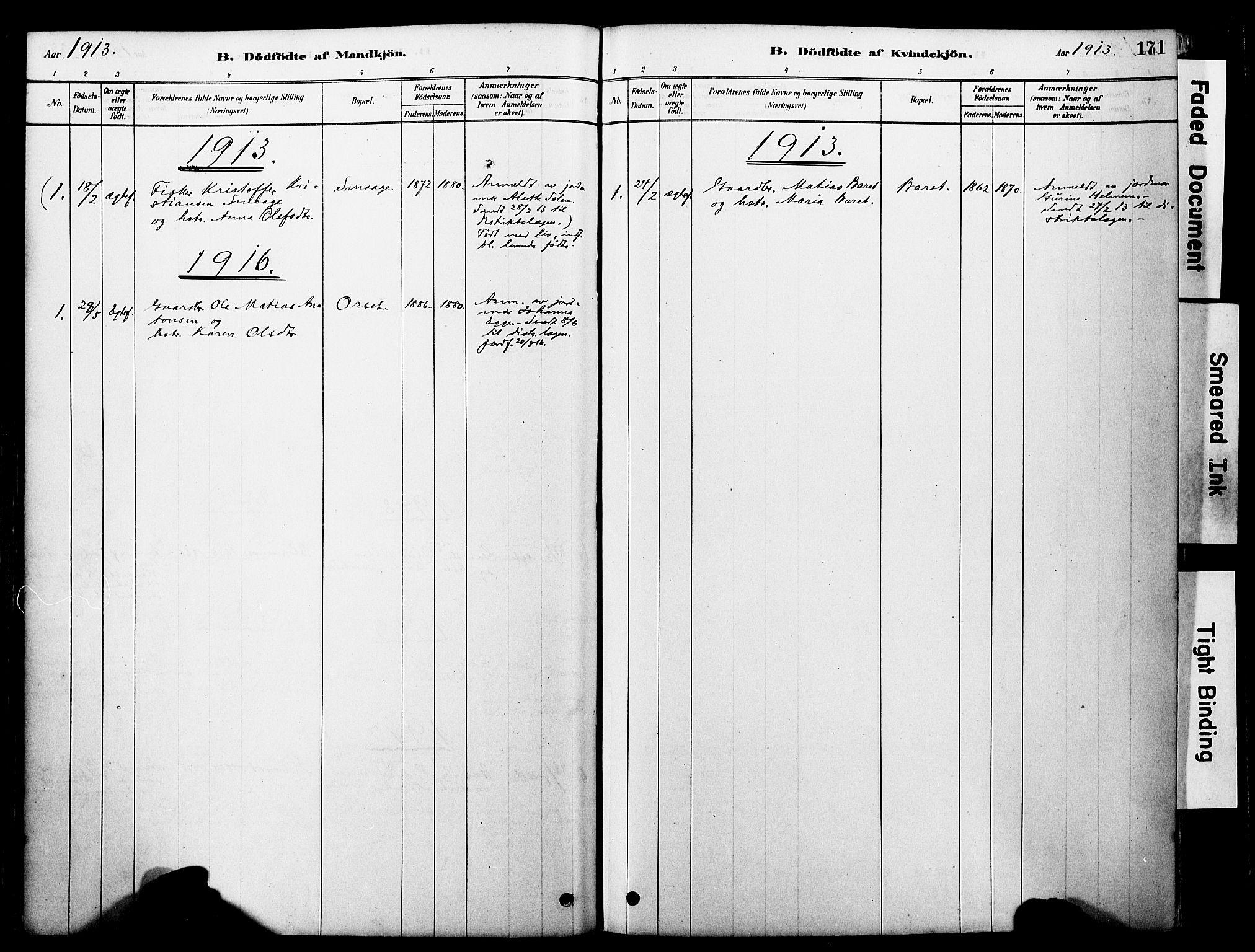 SAT, Ministerialprotokoller, klokkerbøker og fødselsregistre - Møre og Romsdal, 560/L0721: Ministerialbok nr. 560A05, 1878-1917, s. 171