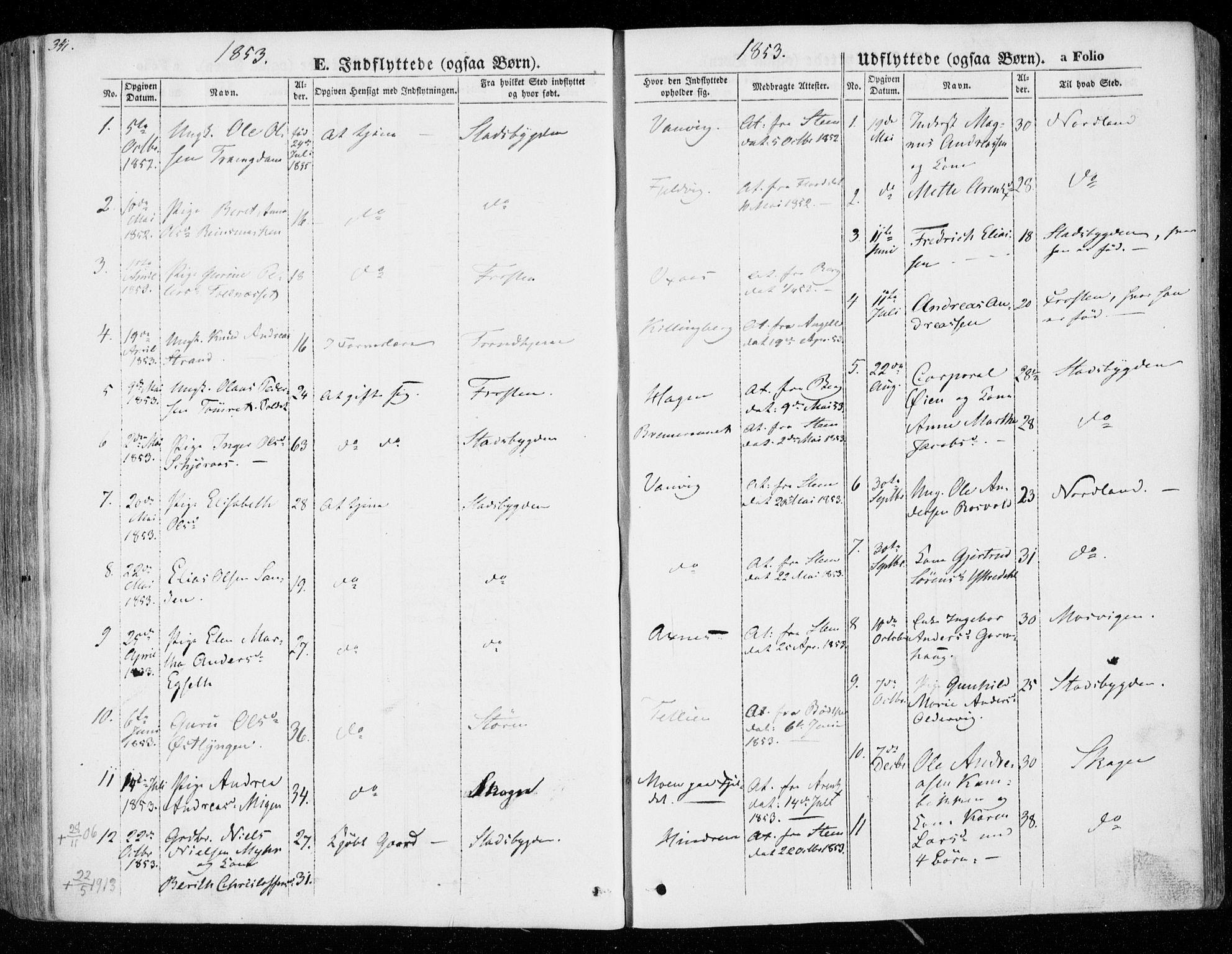 SAT, Ministerialprotokoller, klokkerbøker og fødselsregistre - Nord-Trøndelag, 701/L0007: Ministerialbok nr. 701A07 /1, 1842-1854, s. 341