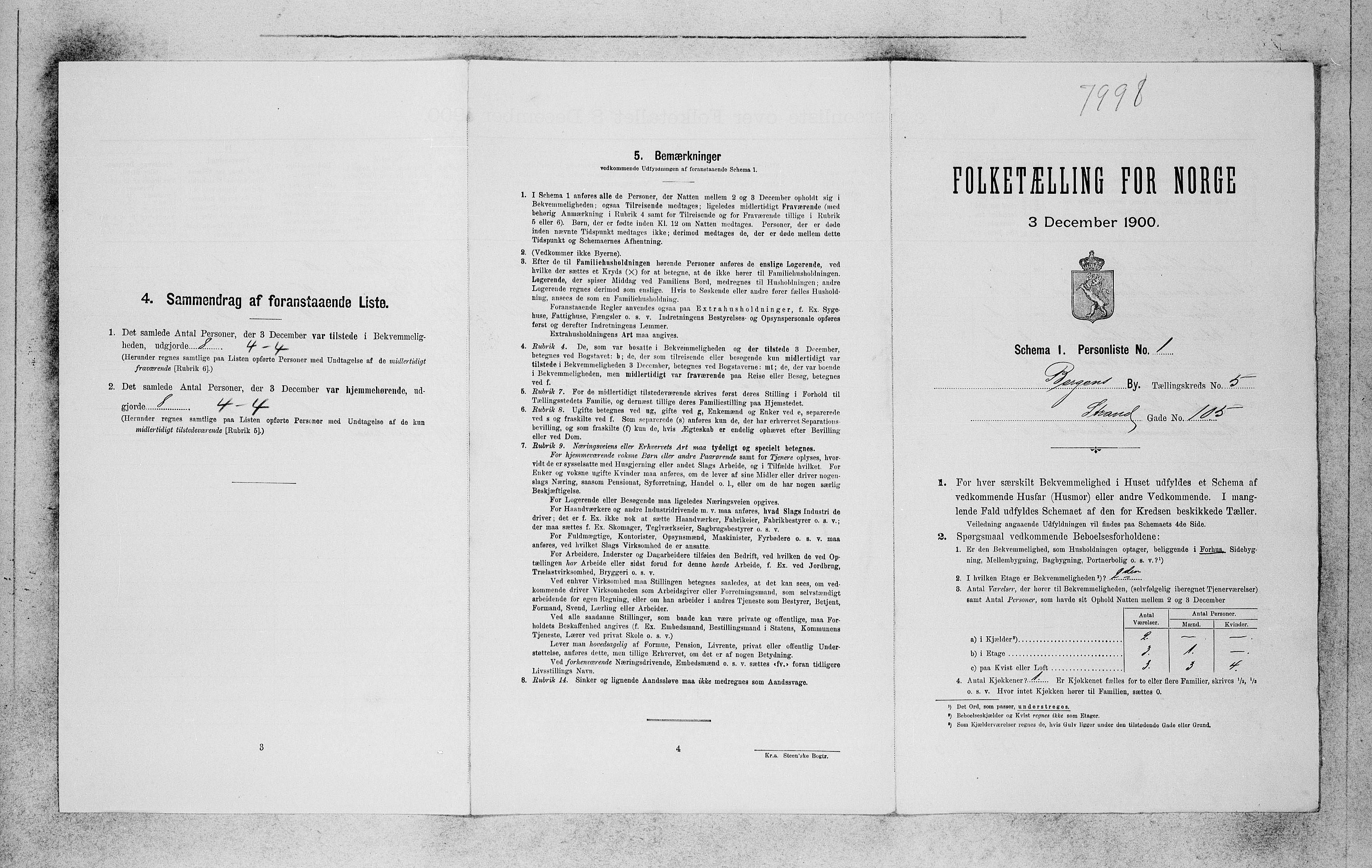 SAB, Folketelling 1900 for 1301 Bergen kjøpstad, 1900, s. 920