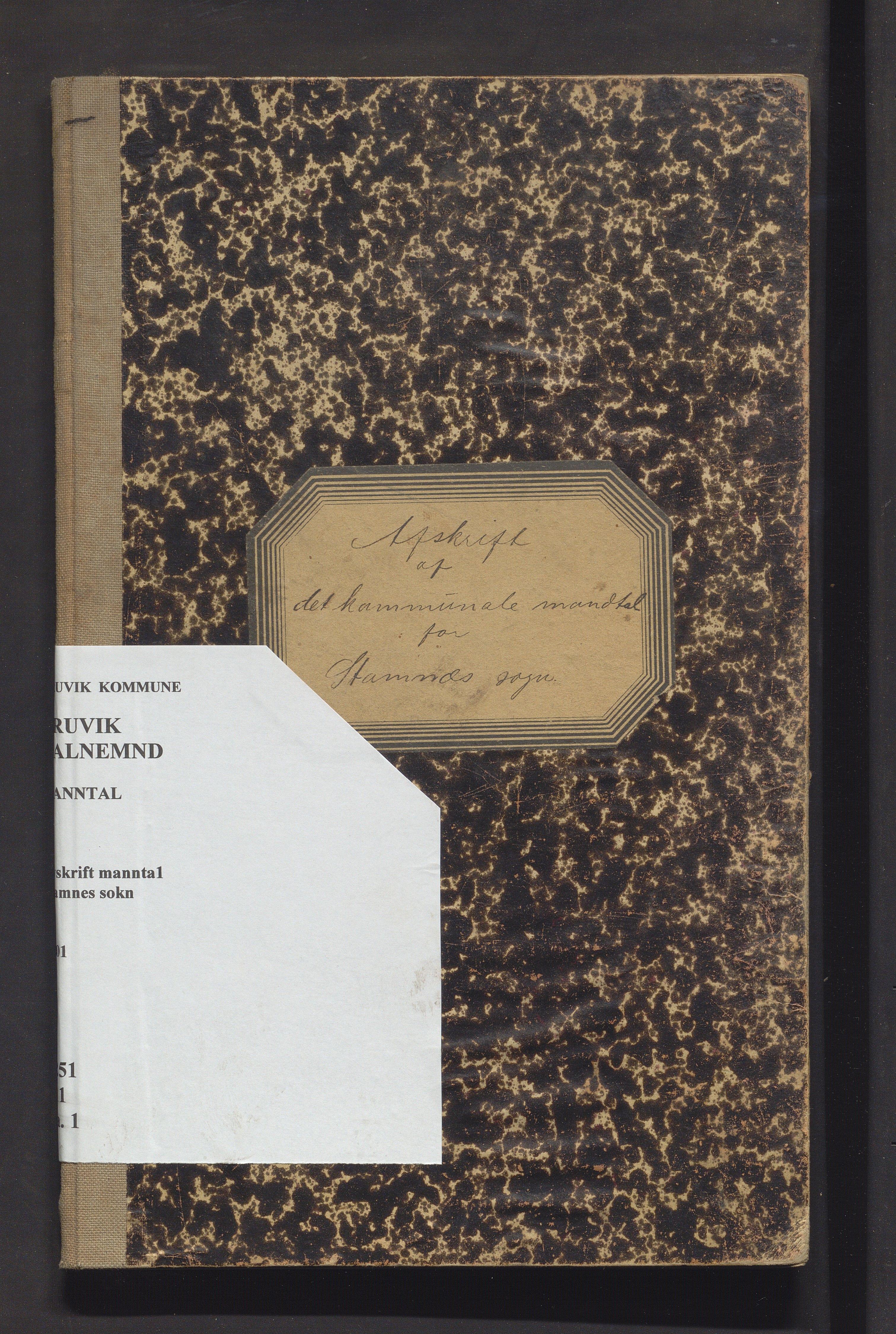 IKAH, Bruvik kommune. Valstyret, F/Fa/L0001: Avskrift av manntalsprotokoll over røysteføre i Stamnes sokn , 1901