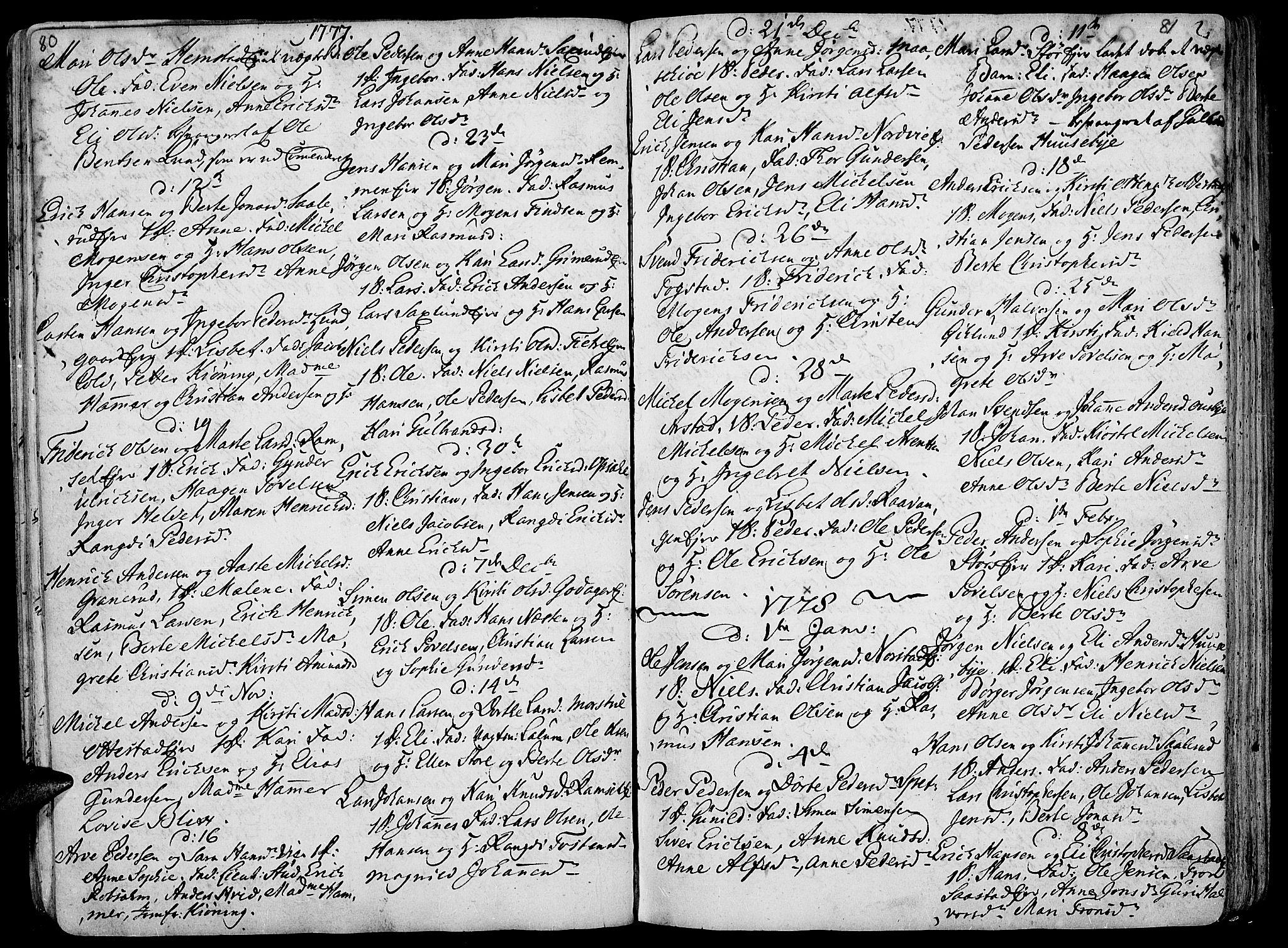 SAH, Stange prestekontor, K/L0006: Ministerialbok nr. 6, 1762-1787, s. 80-81