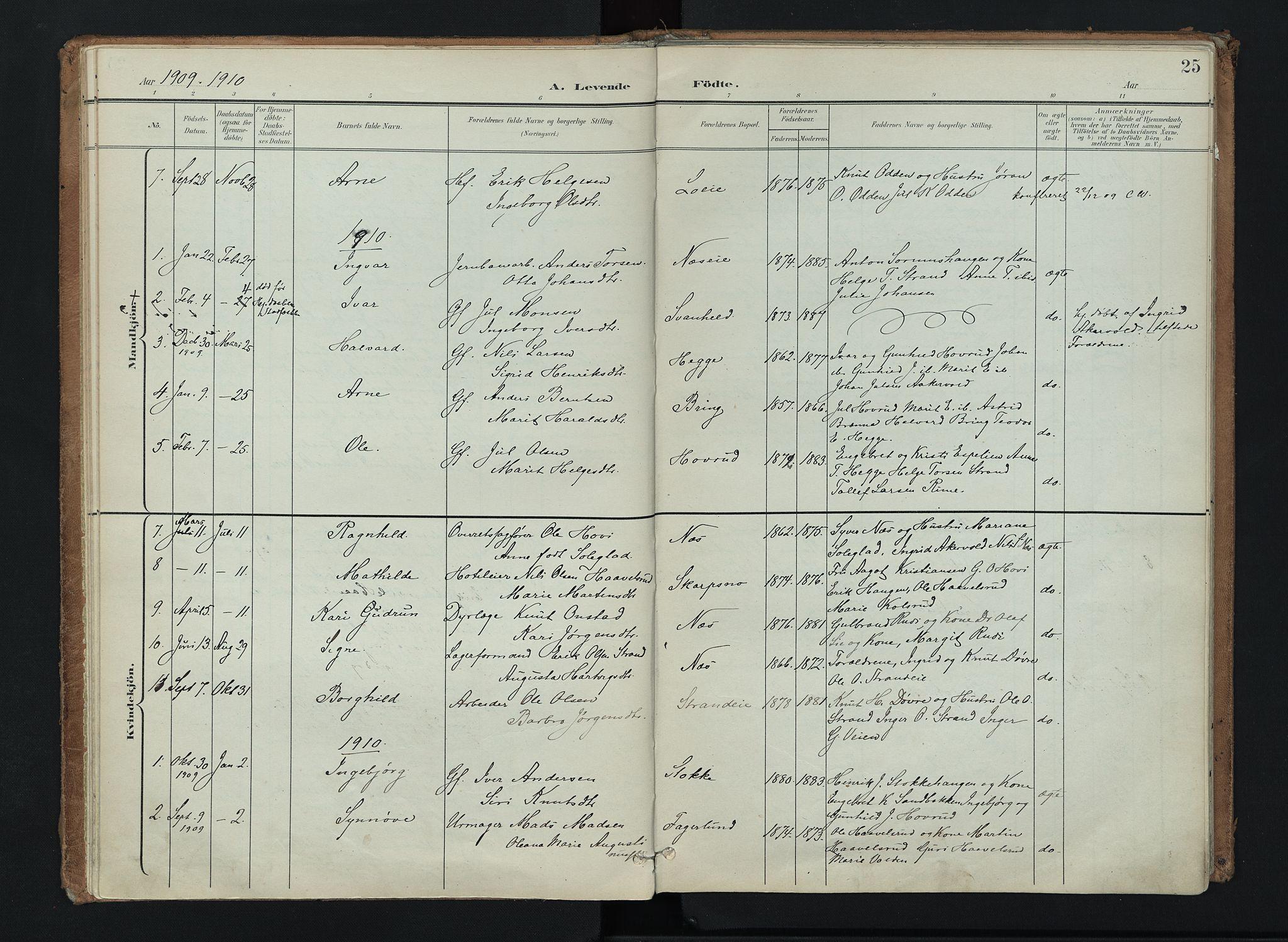 SAH, Nord-Aurdal prestekontor, Ministerialbok nr. 16, 1897-1925, s. 25