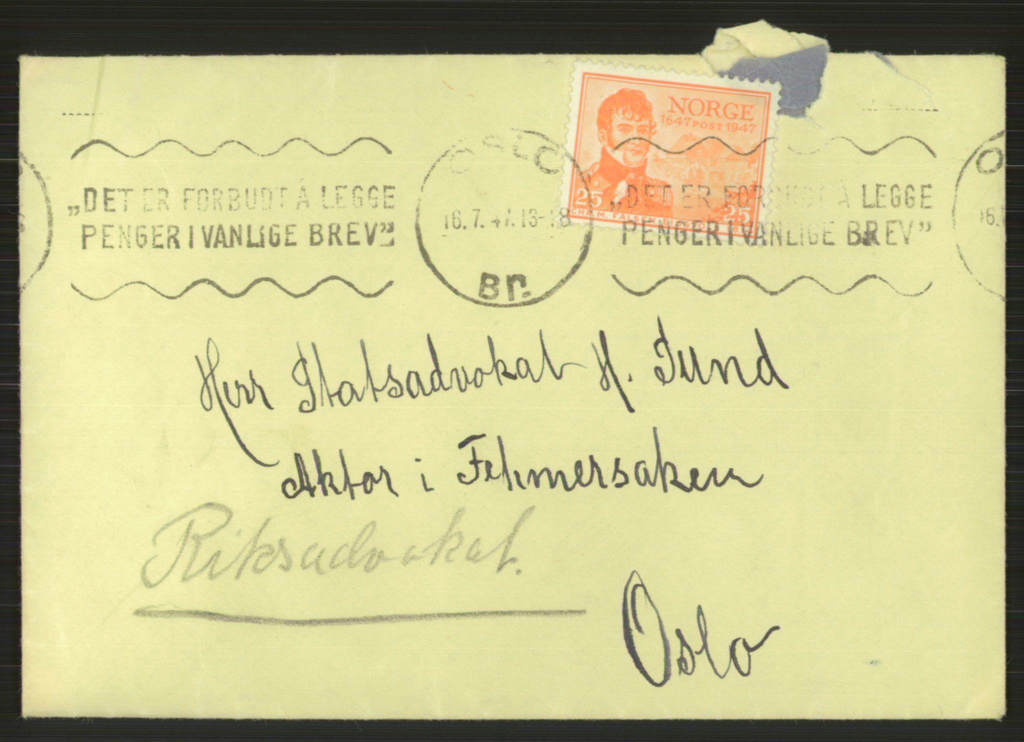 RA, Landssvikarkivet, Oslo politikammer, D/Dg/L0267: Henlagt hnr. 3658, 1945-1946, s. 11