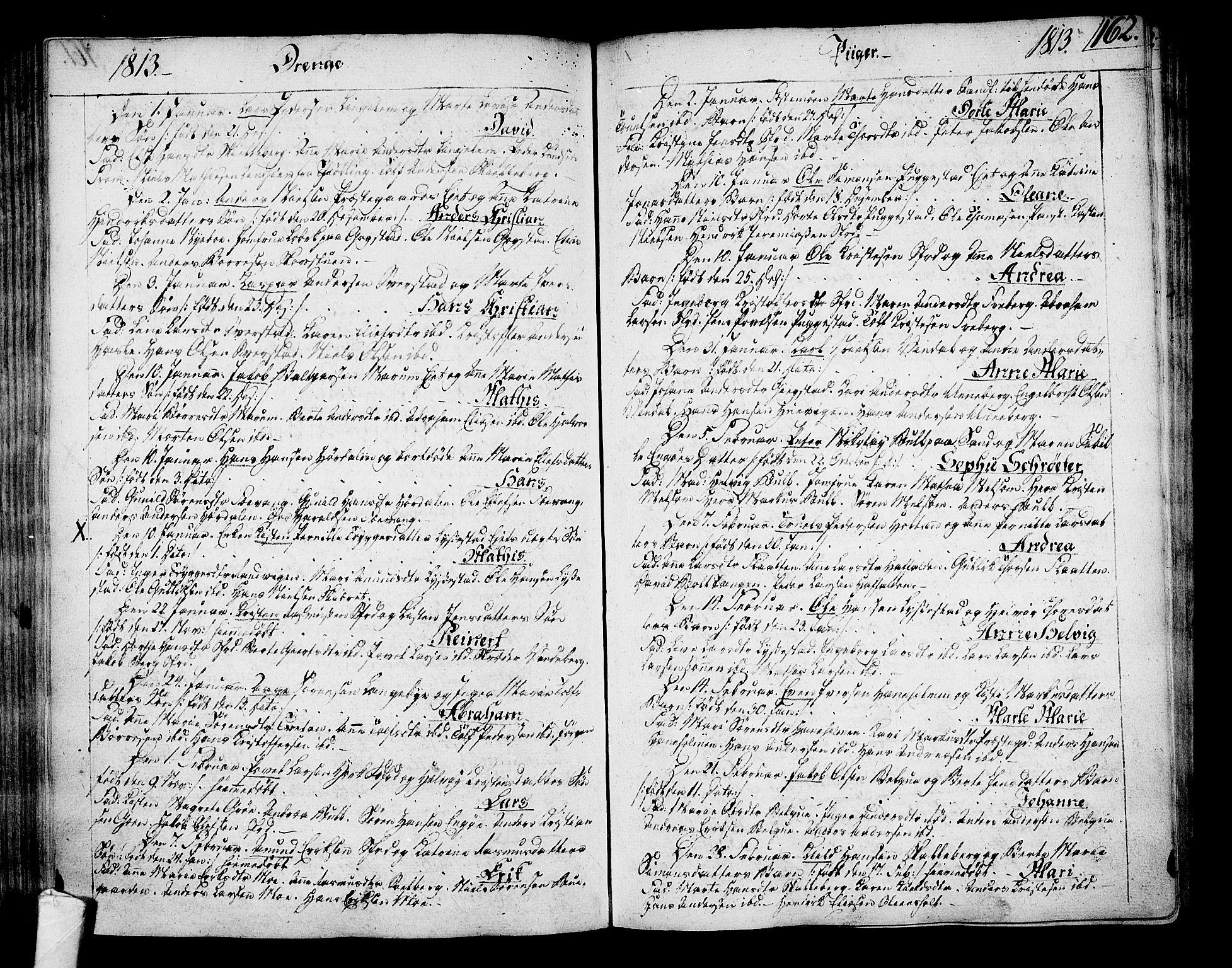 SAKO, Sandar kirkebøker, F/Fa/L0003: Ministerialbok nr. 3, 1789-1814, s. 162