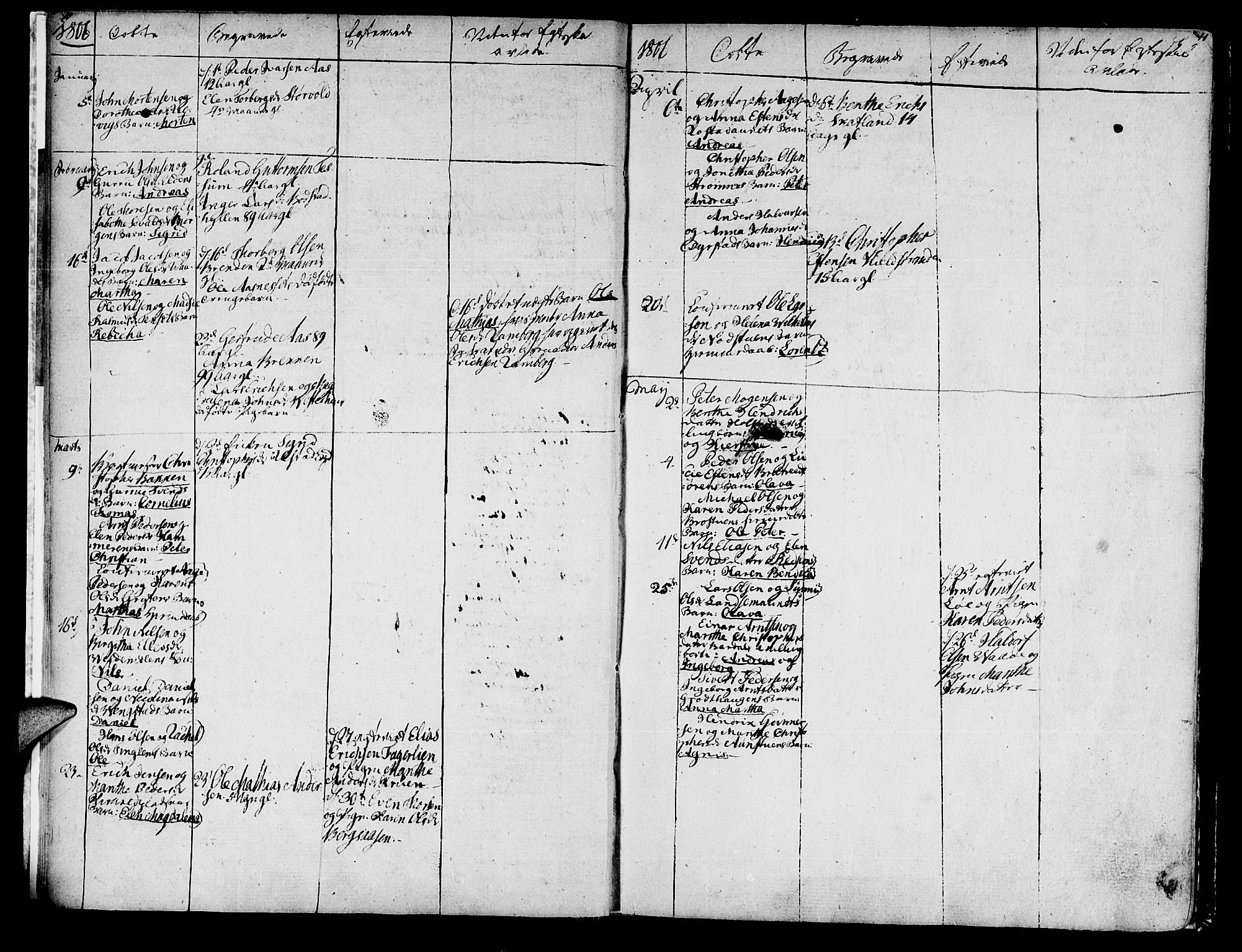 SAT, Ministerialprotokoller, klokkerbøker og fødselsregistre - Nord-Trøndelag, 741/L0386: Ministerialbok nr. 741A02, 1804-1816, s. 10-11