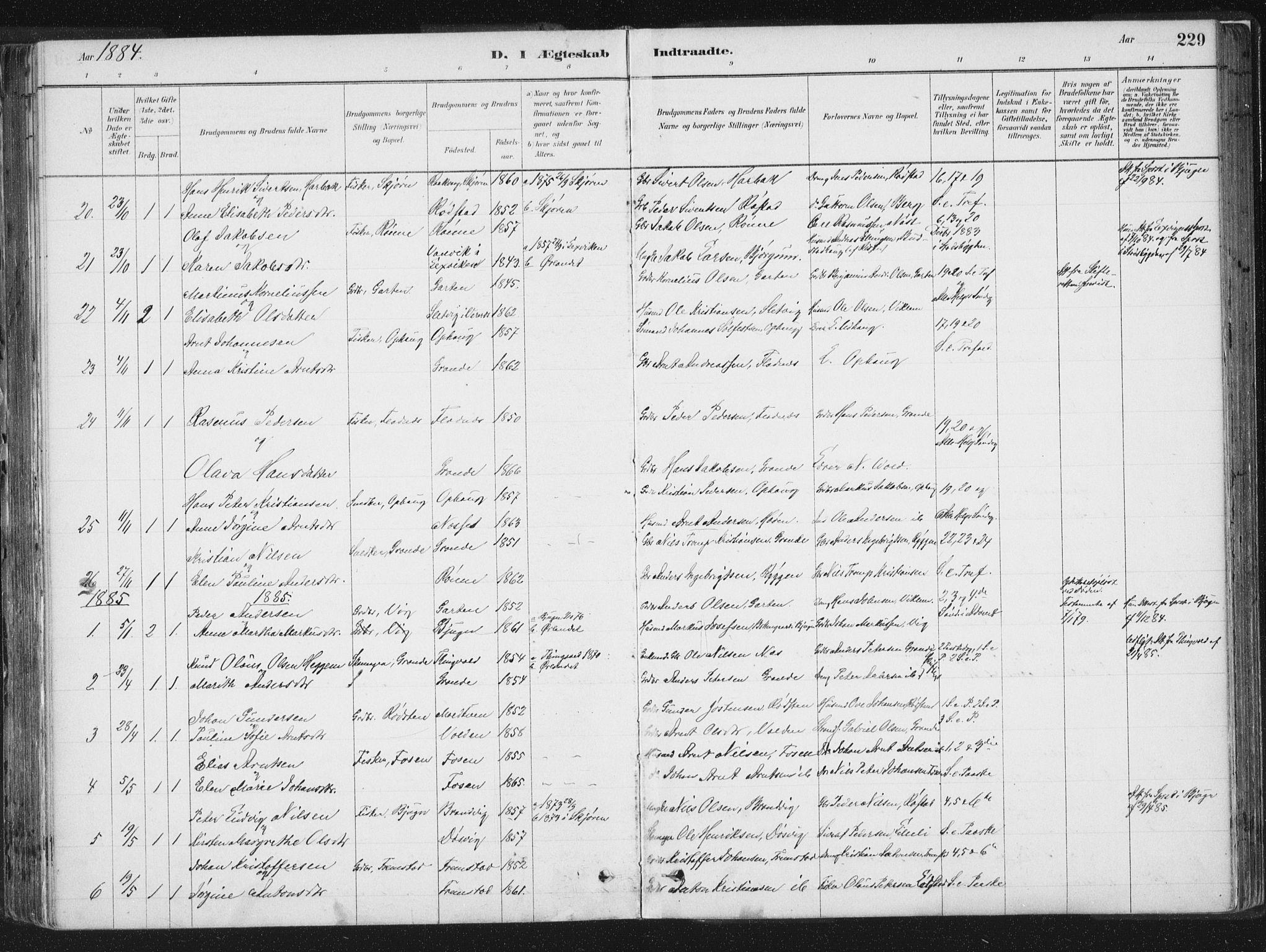 SAT, Ministerialprotokoller, klokkerbøker og fødselsregistre - Sør-Trøndelag, 659/L0739: Ministerialbok nr. 659A09, 1879-1893, s. 229