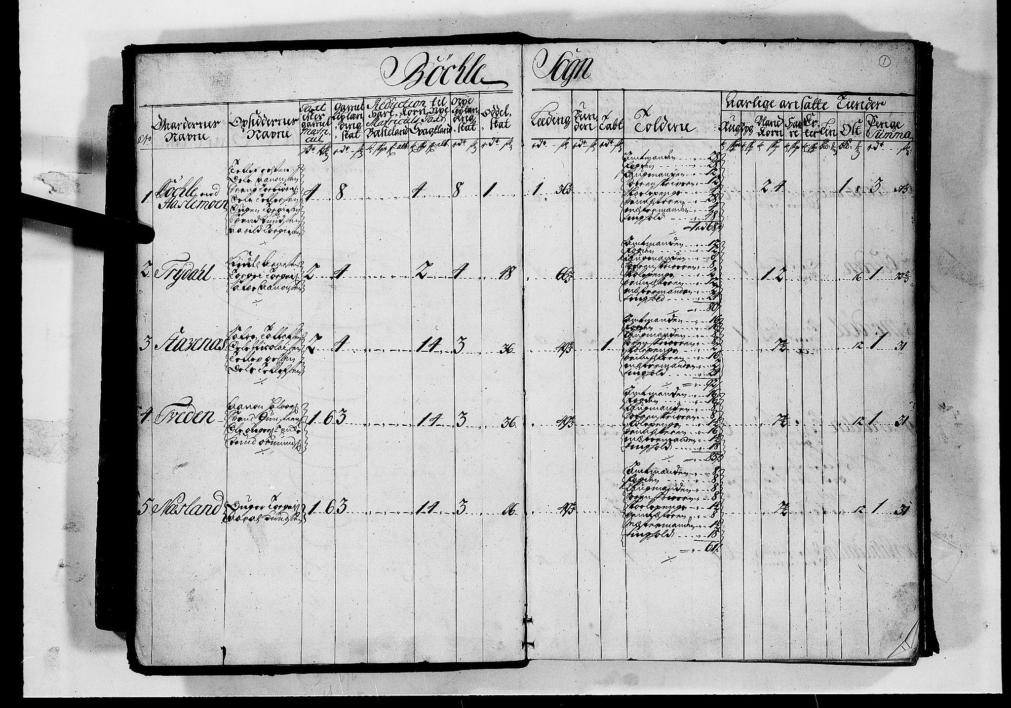 RA, Rentekammeret inntil 1814, Realistisk ordnet avdeling, N/Nb/Nbf/L0126: Råbyggelag matrikkelprotokoll, 1723, s. 1a