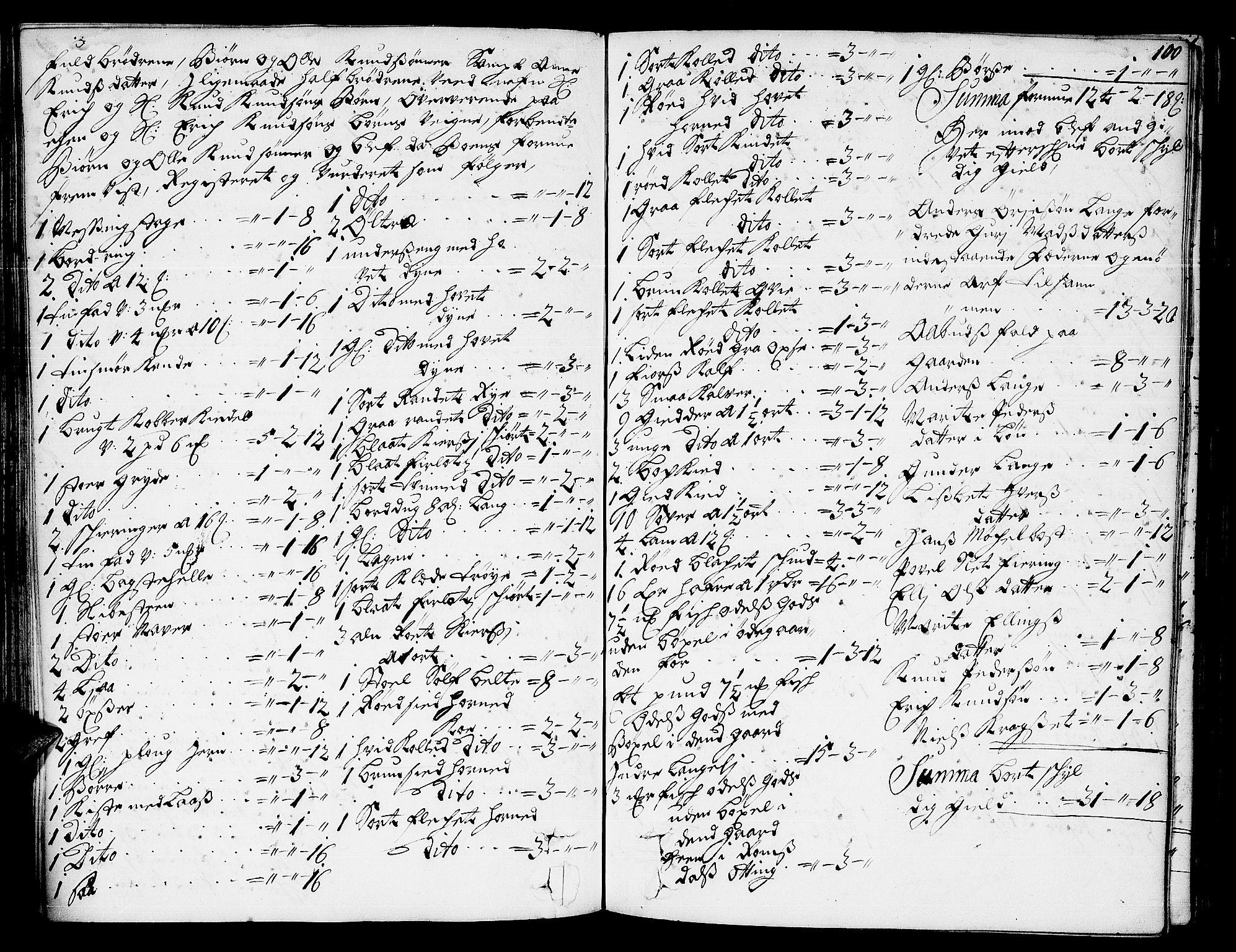 SAT, Romsdal sorenskriveri, 3/3A/L0004: Skifteprotokoll, 1702-1706, s. 99b-100a