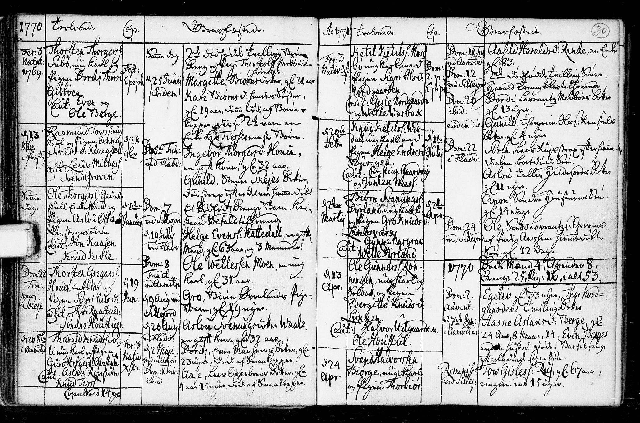 SAKO, Seljord kirkebøker, F/Fa/L0008: Ministerialbok nr. I 8, 1755-1814, s. 30