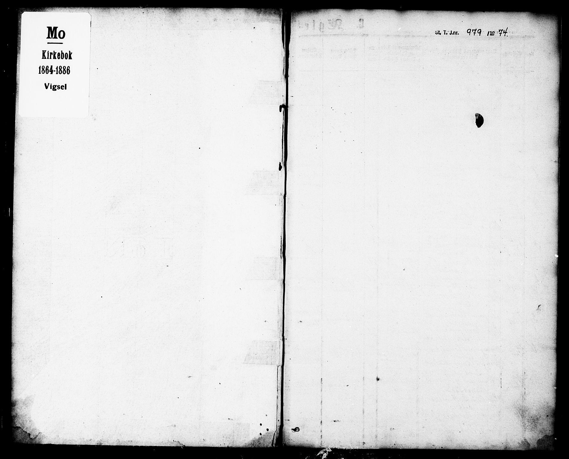SAT, Ministerialprotokoller, klokkerbøker og fødselsregistre - Nordland, 827/L0395: Ministerialbok nr. 827A07, 1864-1886