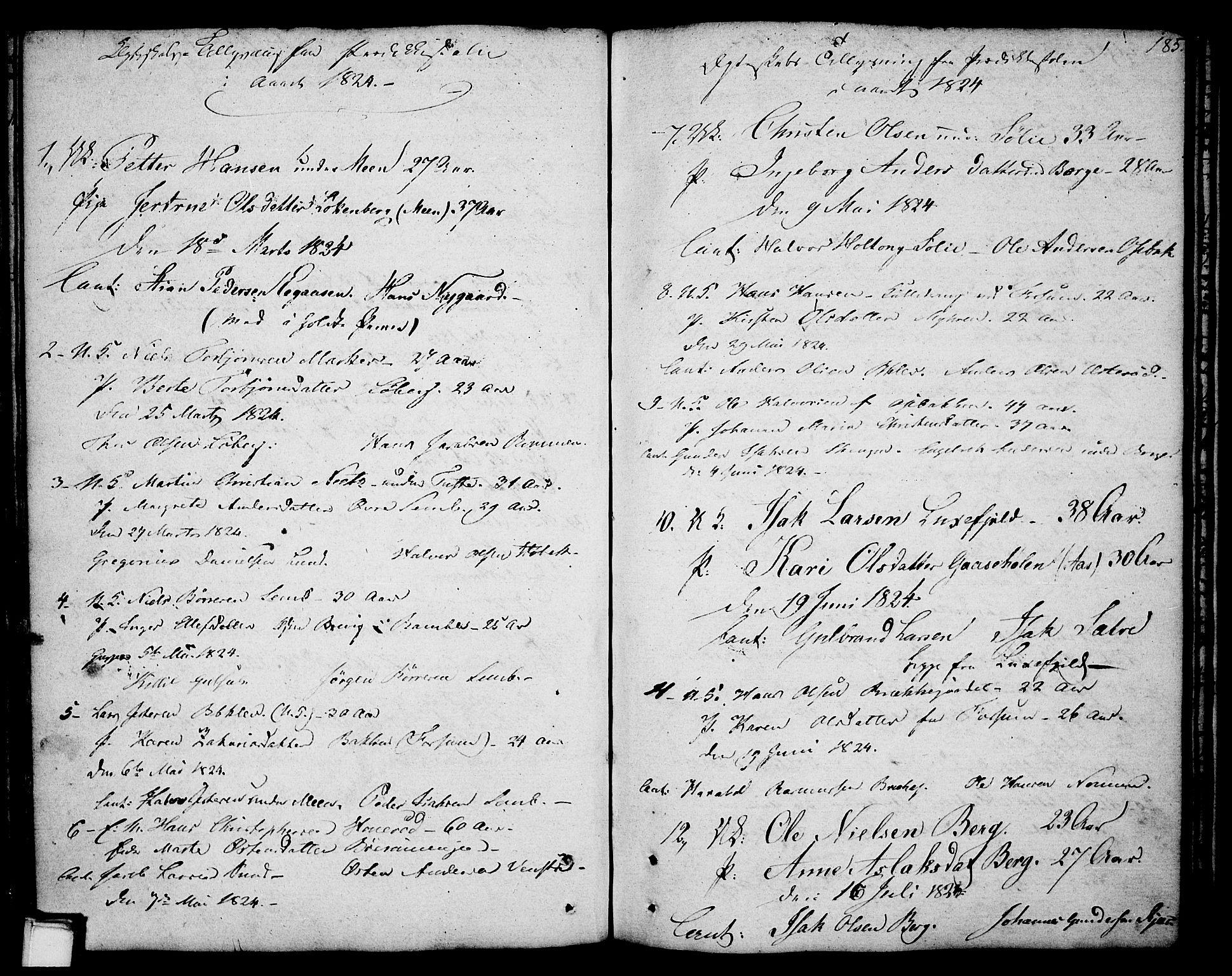 SAKO, Gjerpen kirkebøker, F/Fa/L0003: Ministerialbok nr. 3, 1796-1814, s. 185