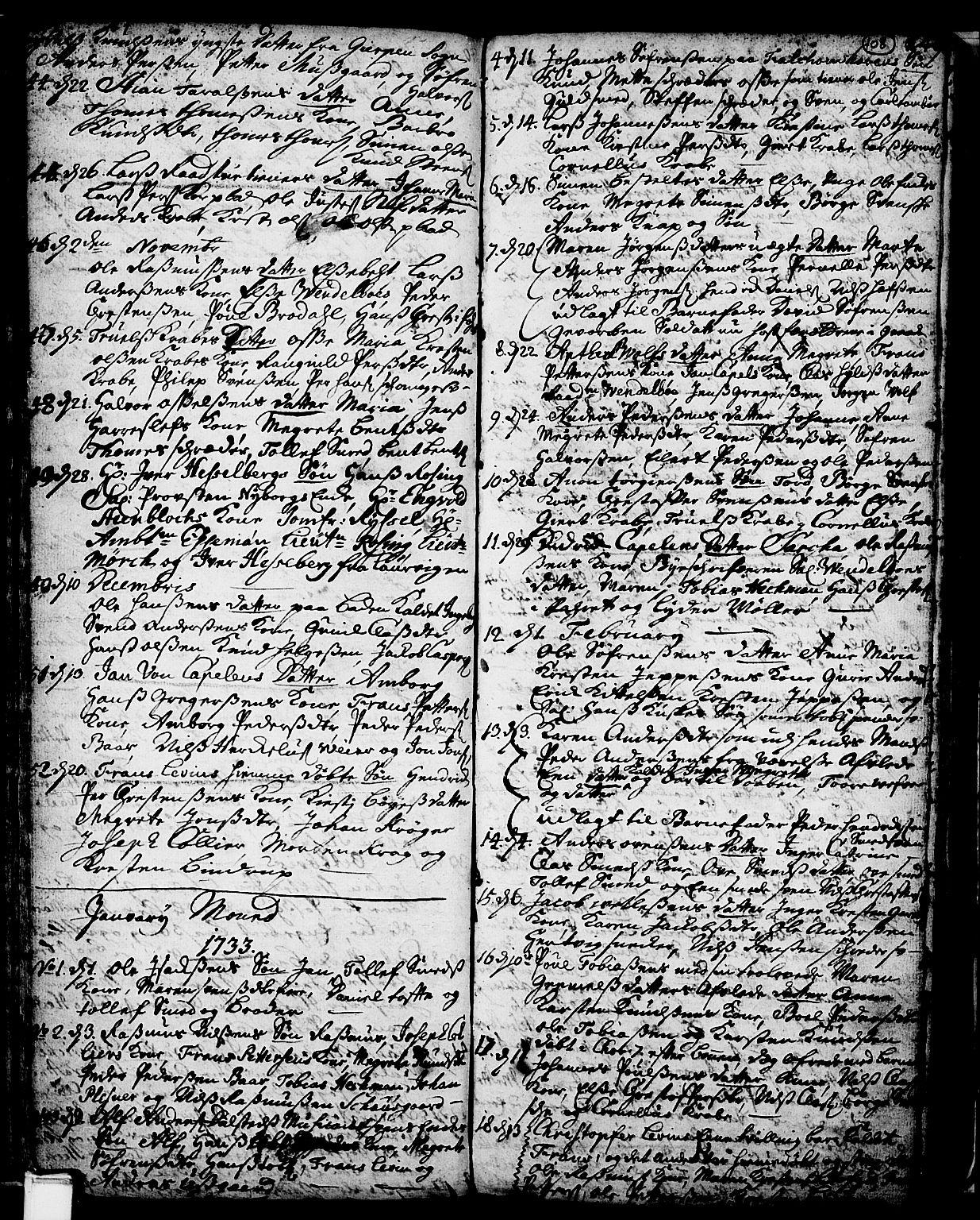 SAKO, Skien kirkebøker, F/Fa/L0002: Ministerialbok nr. 2, 1716-1757, s. 108
