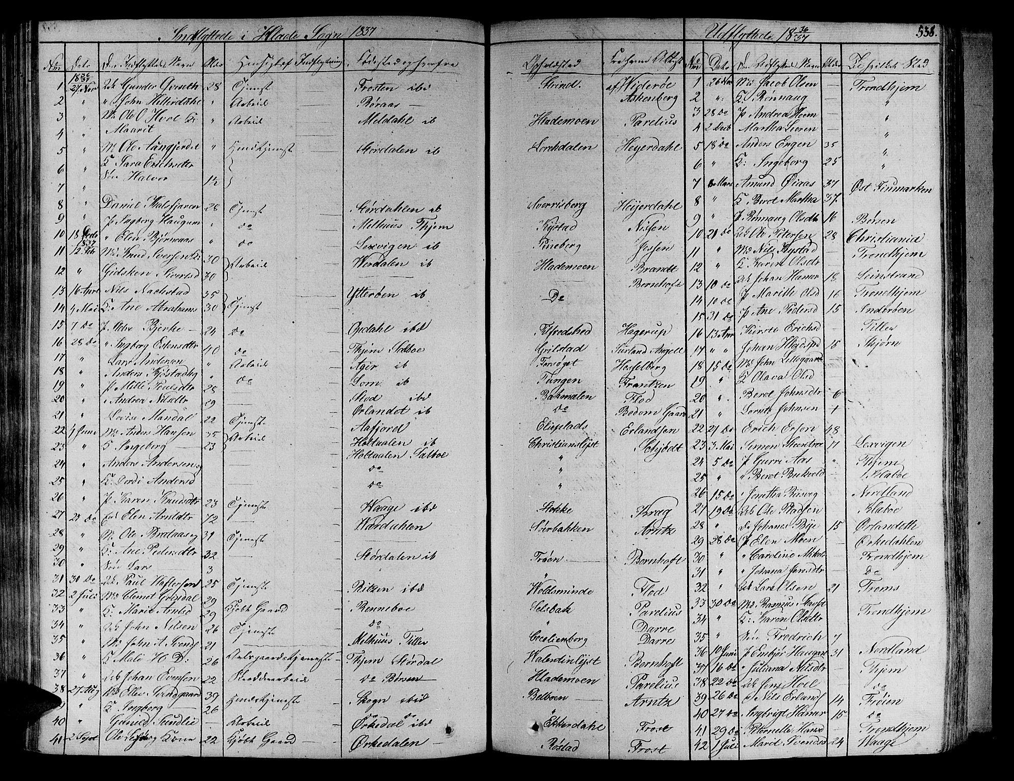 SAT, Ministerialprotokoller, klokkerbøker og fødselsregistre - Sør-Trøndelag, 606/L0286: Ministerialbok nr. 606A04 /1, 1823-1840, s. 538