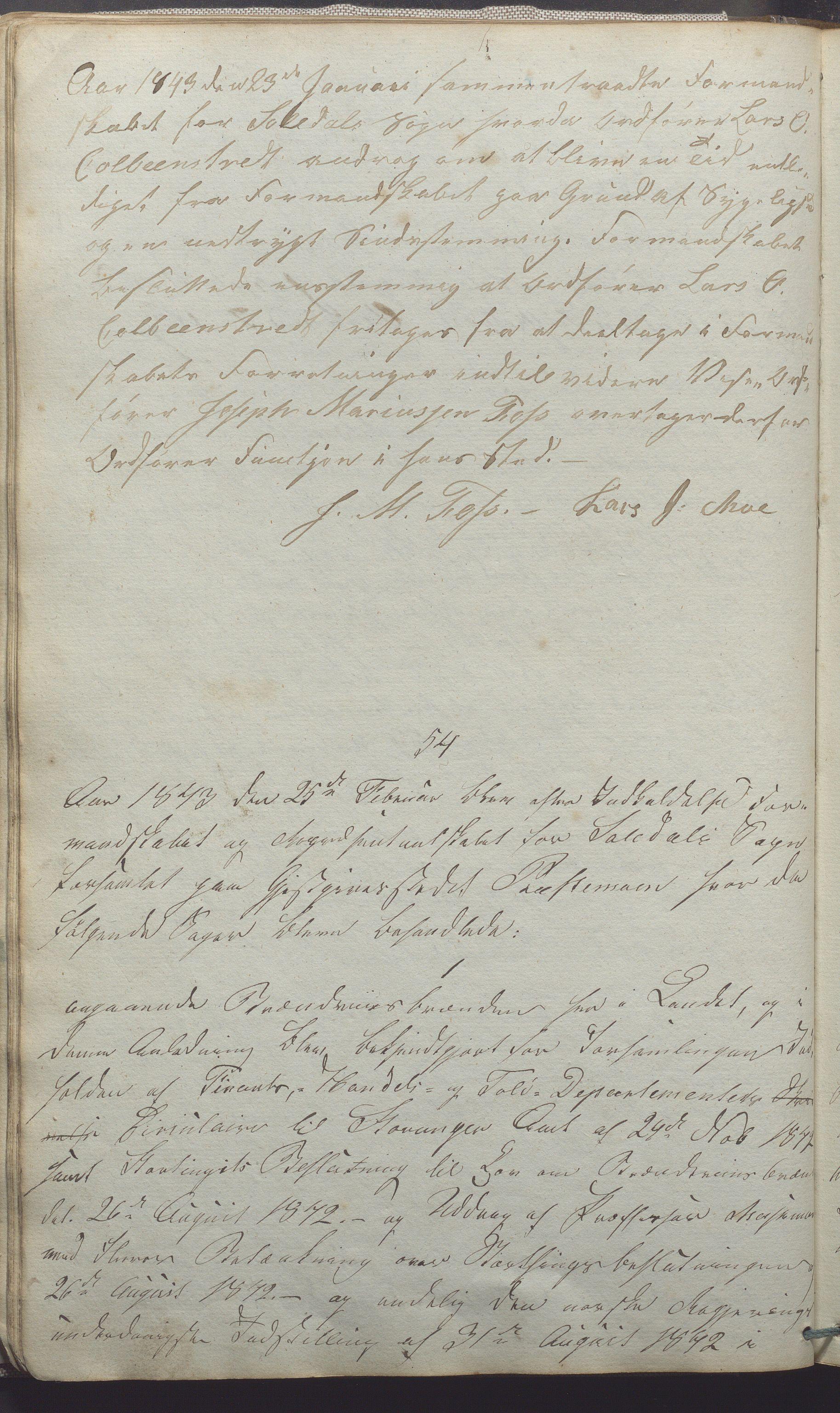 IKAR, Suldal kommune - Formannskapet/Rådmannen, A/Aa/L0001: Møtebok, 1837-1876, s. 50b