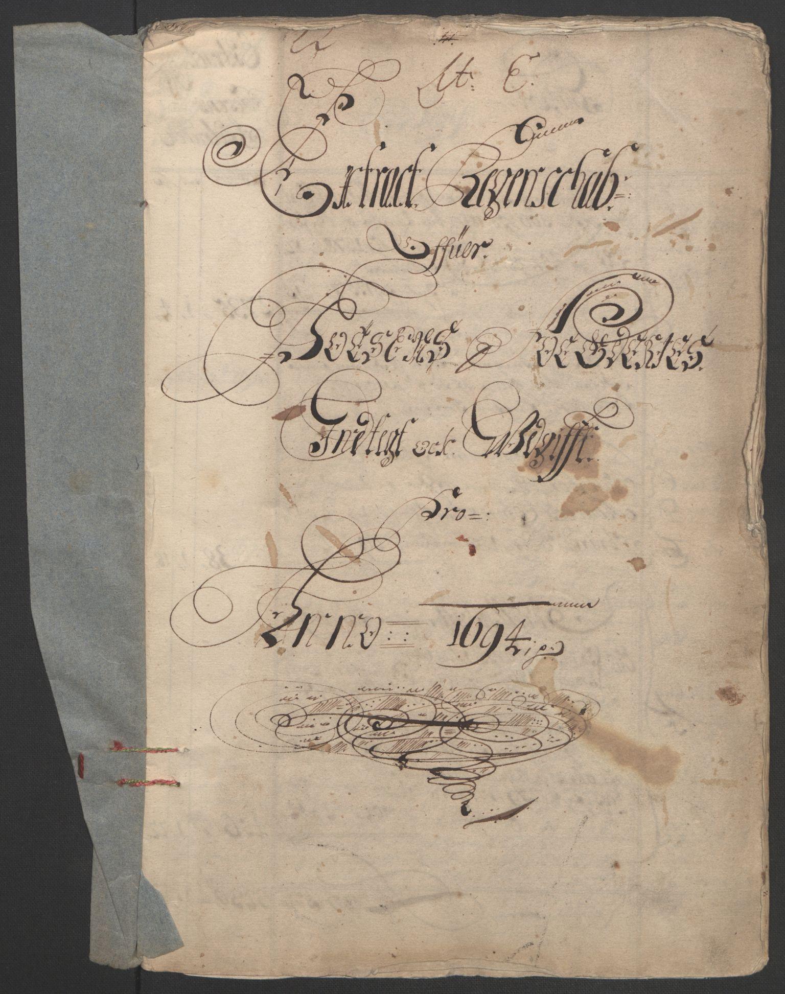 RA, Rentekammeret inntil 1814, Reviderte regnskaper, Fogderegnskap, R57/L3850: Fogderegnskap Fosen, 1694, s. 3