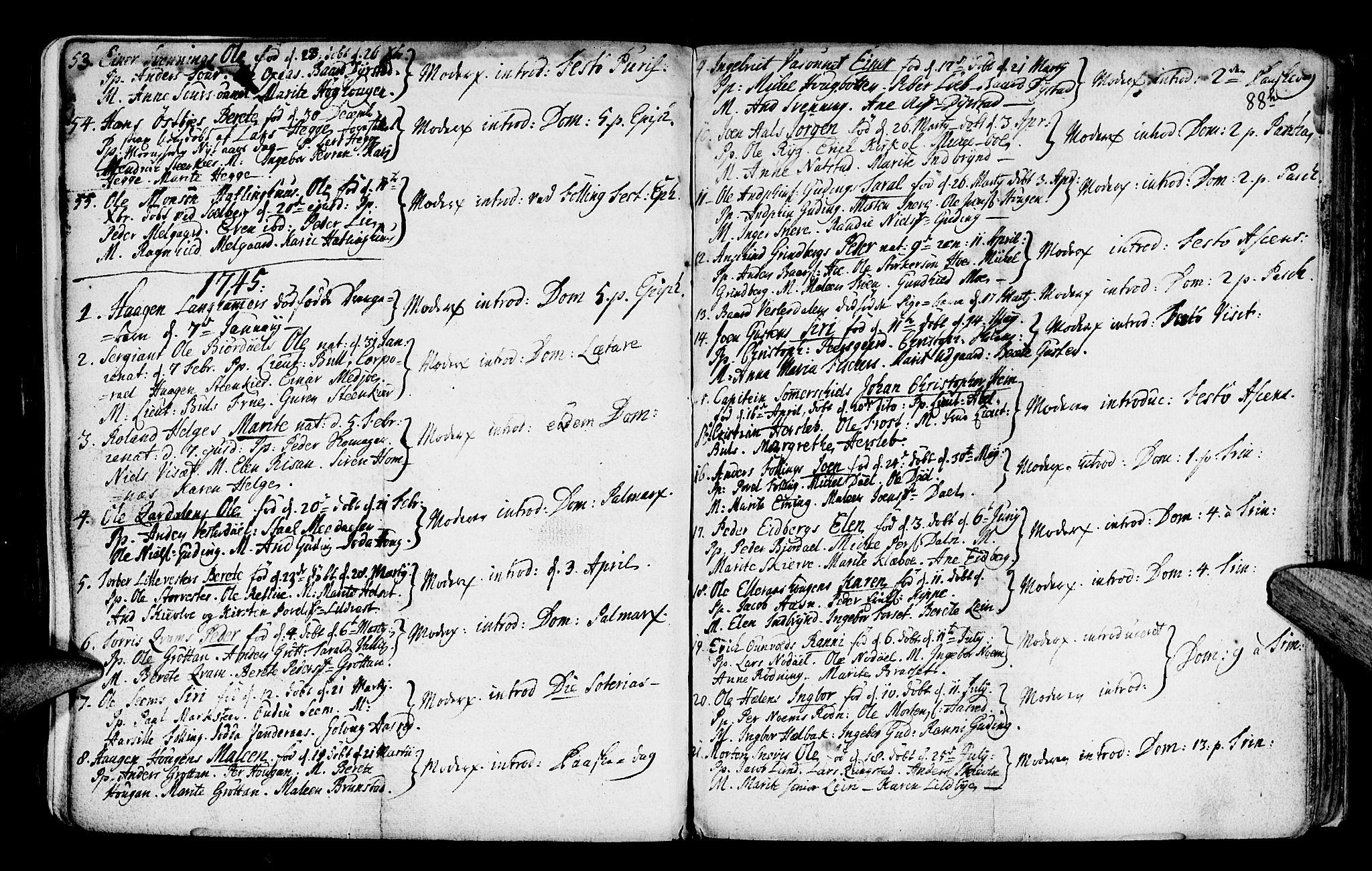 SAT, Ministerialprotokoller, klokkerbøker og fødselsregistre - Nord-Trøndelag, 746/L0439: Ministerialbok nr. 746A01, 1688-1759, s. 88i