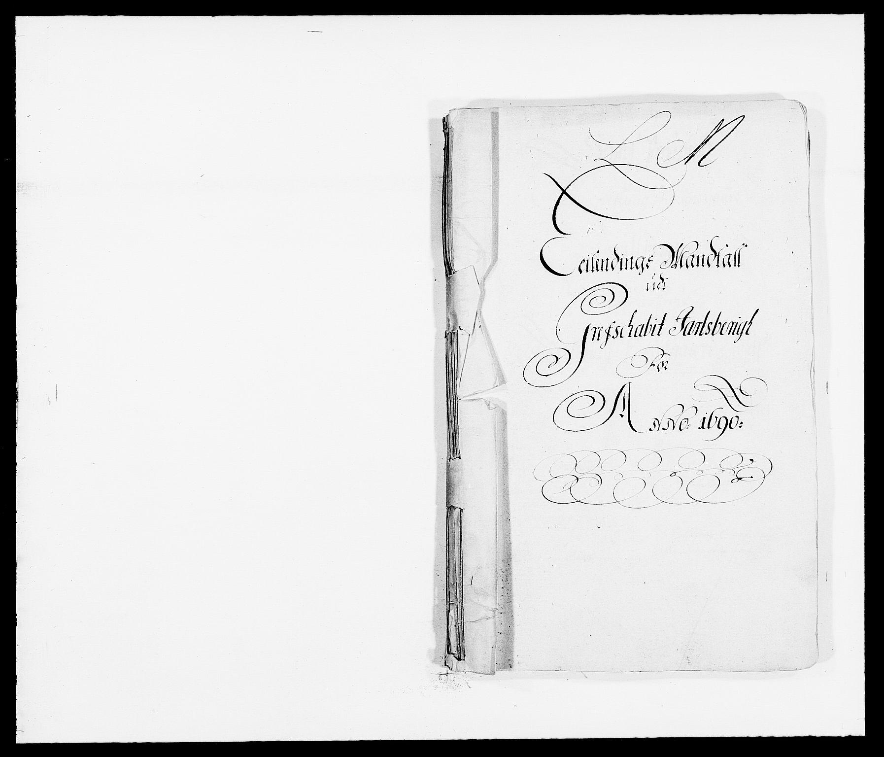 RA, Rentekammeret inntil 1814, Reviderte regnskaper, Fogderegnskap, R32/L1861: Fogderegnskap Jarlsberg grevskap, 1686-1690, s. 1