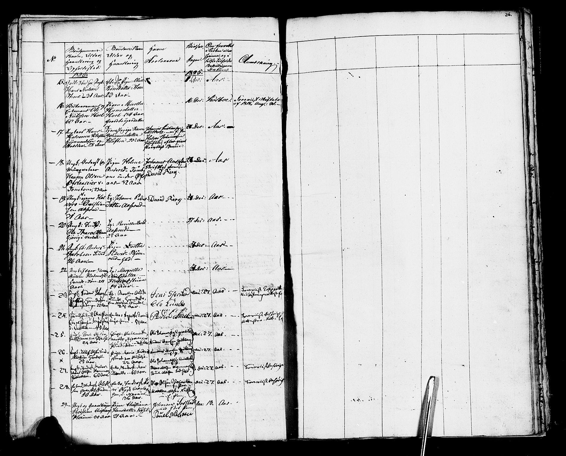 SAH, Vestre Toten prestekontor, Ministerialbok nr. 1, 1825-1826, s. 26
