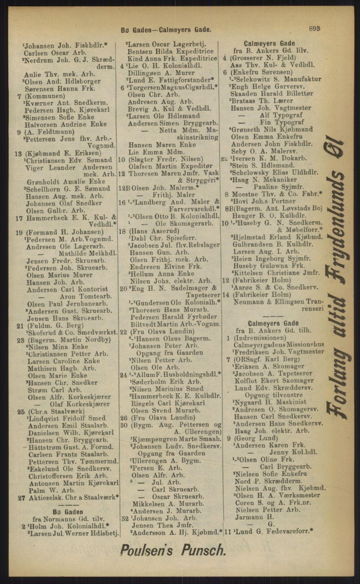 RA, Kristiania adressebok (publikasjon)*, 1903, s. 893
