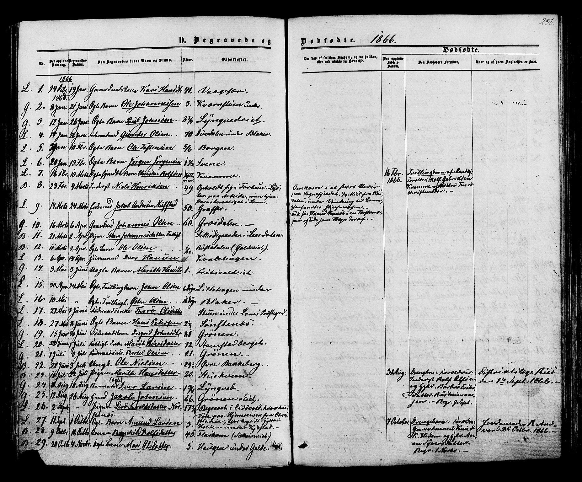 SAH, Lom prestekontor, K/L0007: Ministerialbok nr. 7, 1863-1884, s. 238