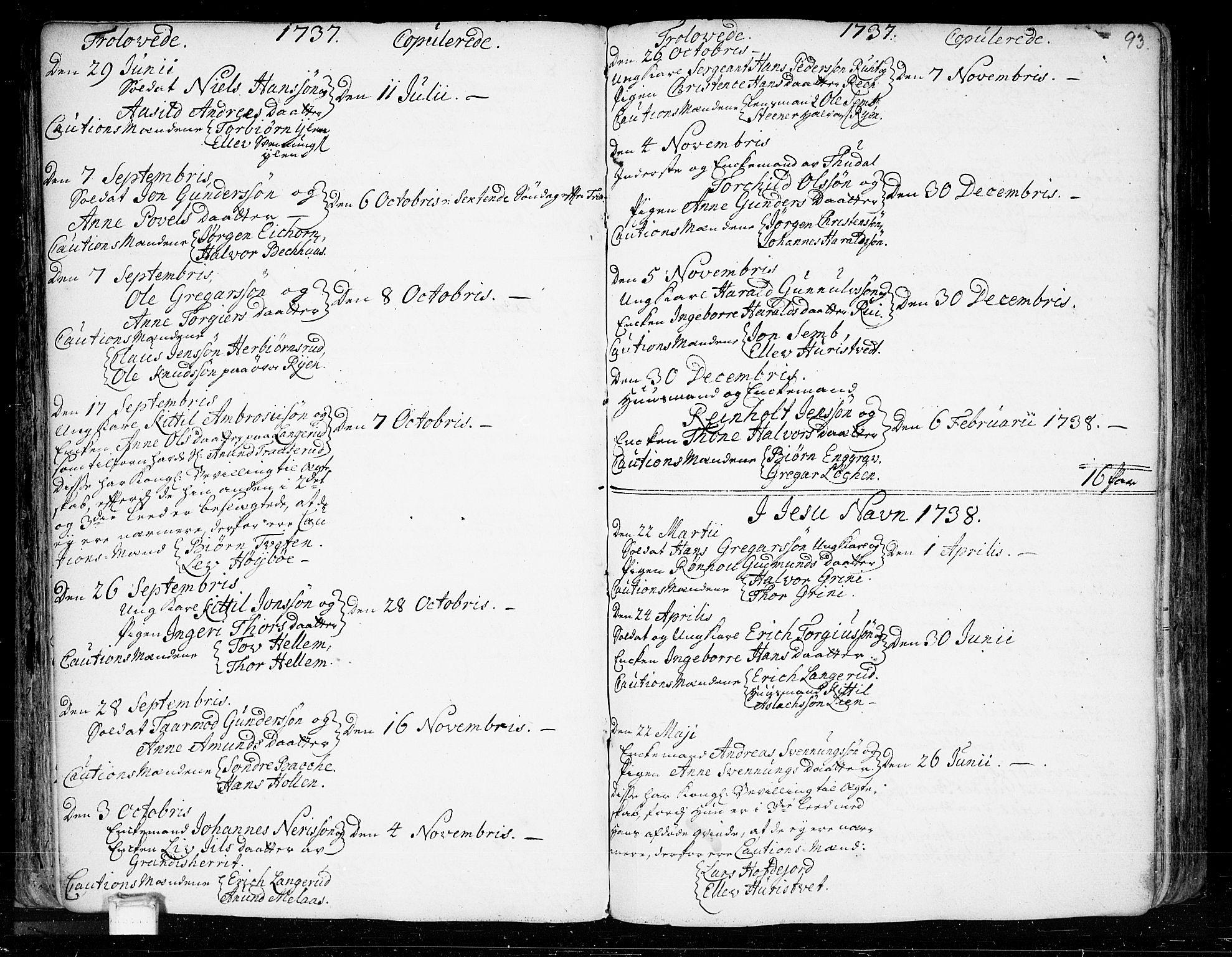 SAKO, Heddal kirkebøker, F/Fa/L0003: Ministerialbok nr. I 3, 1723-1783, s. 93