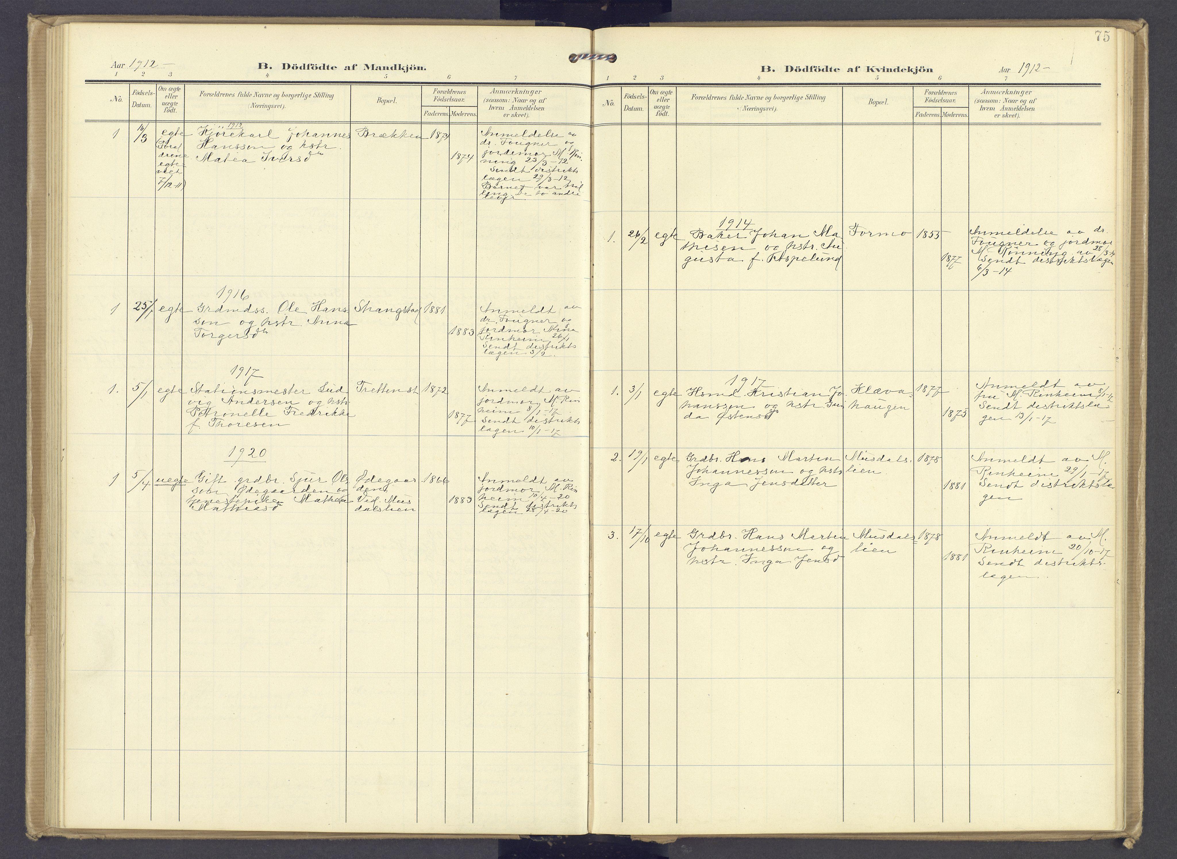 SAH, Øyer prestekontor, Ministerialbok nr. 13, 1905-1920, s. 75