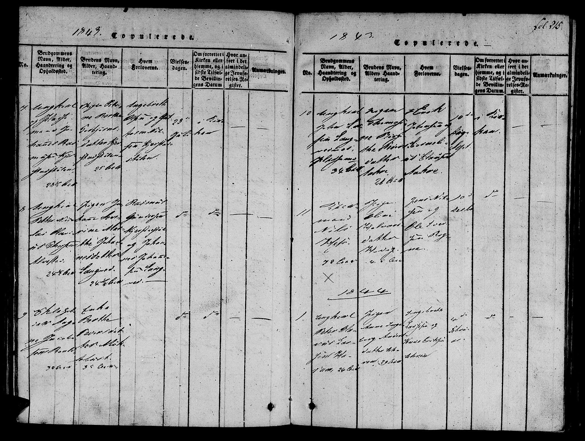SAT, Ministerialprotokoller, klokkerbøker og fødselsregistre - Møre og Romsdal, 536/L0495: Ministerialbok nr. 536A04, 1818-1847, s. 215