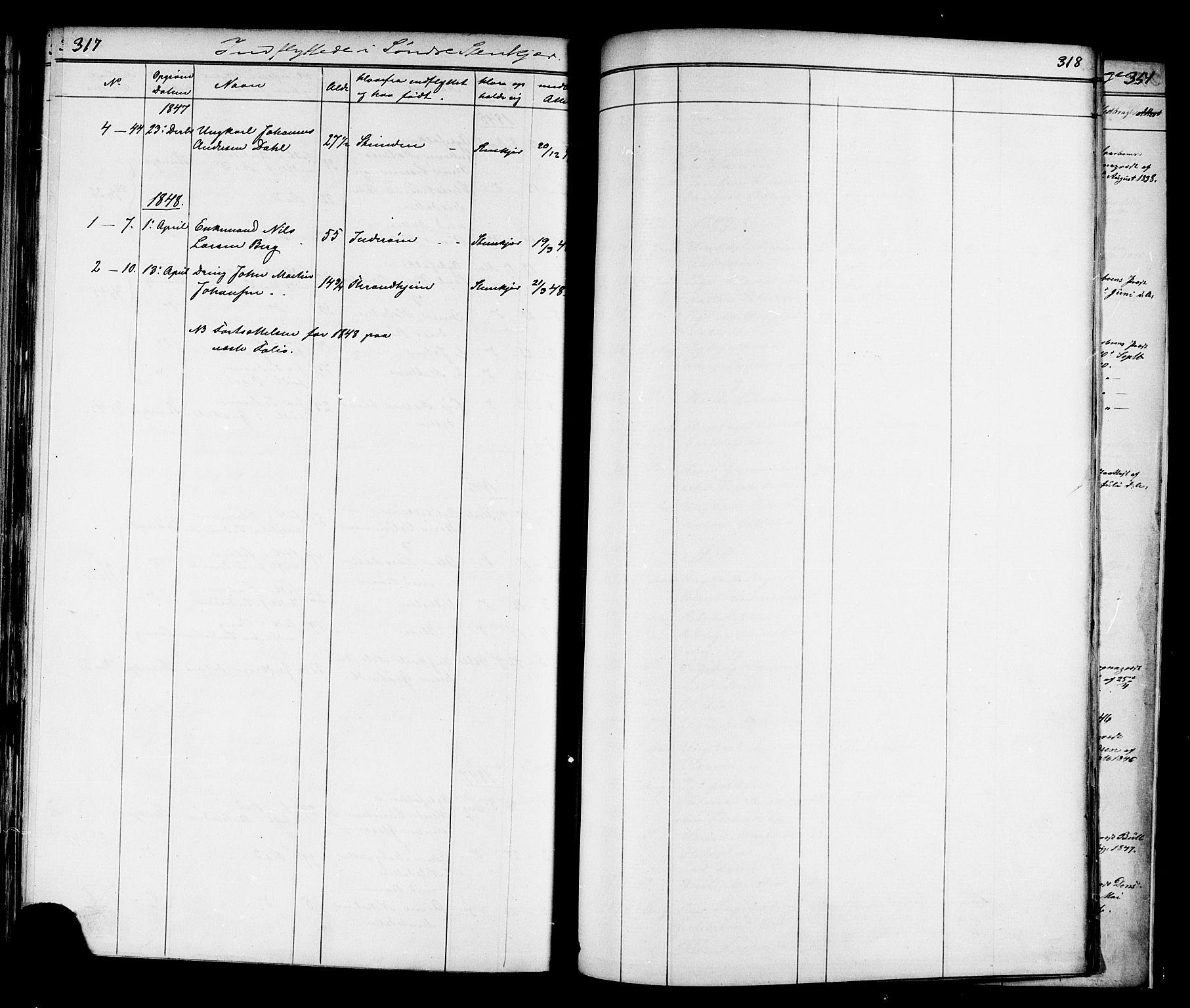 SAT, Ministerialprotokoller, klokkerbøker og fødselsregistre - Nord-Trøndelag, 739/L0367: Ministerialbok nr. 739A01 /1, 1838-1868, s. 317-318