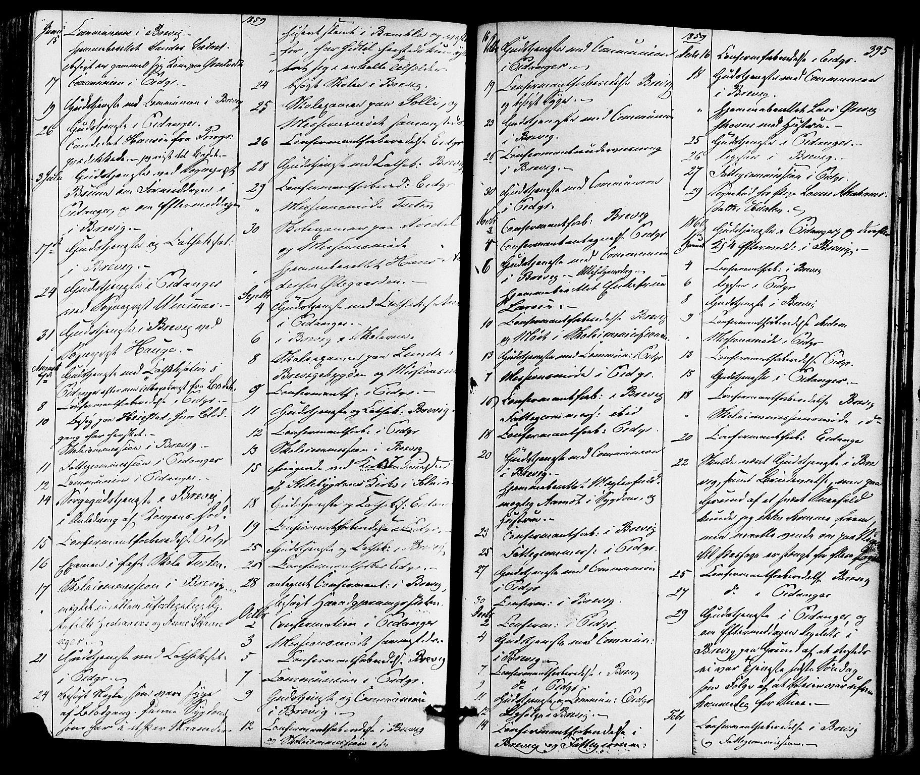 SAKO, Eidanger kirkebøker, F/Fa/L0010: Ministerialbok nr. 10, 1859-1874, s. 395