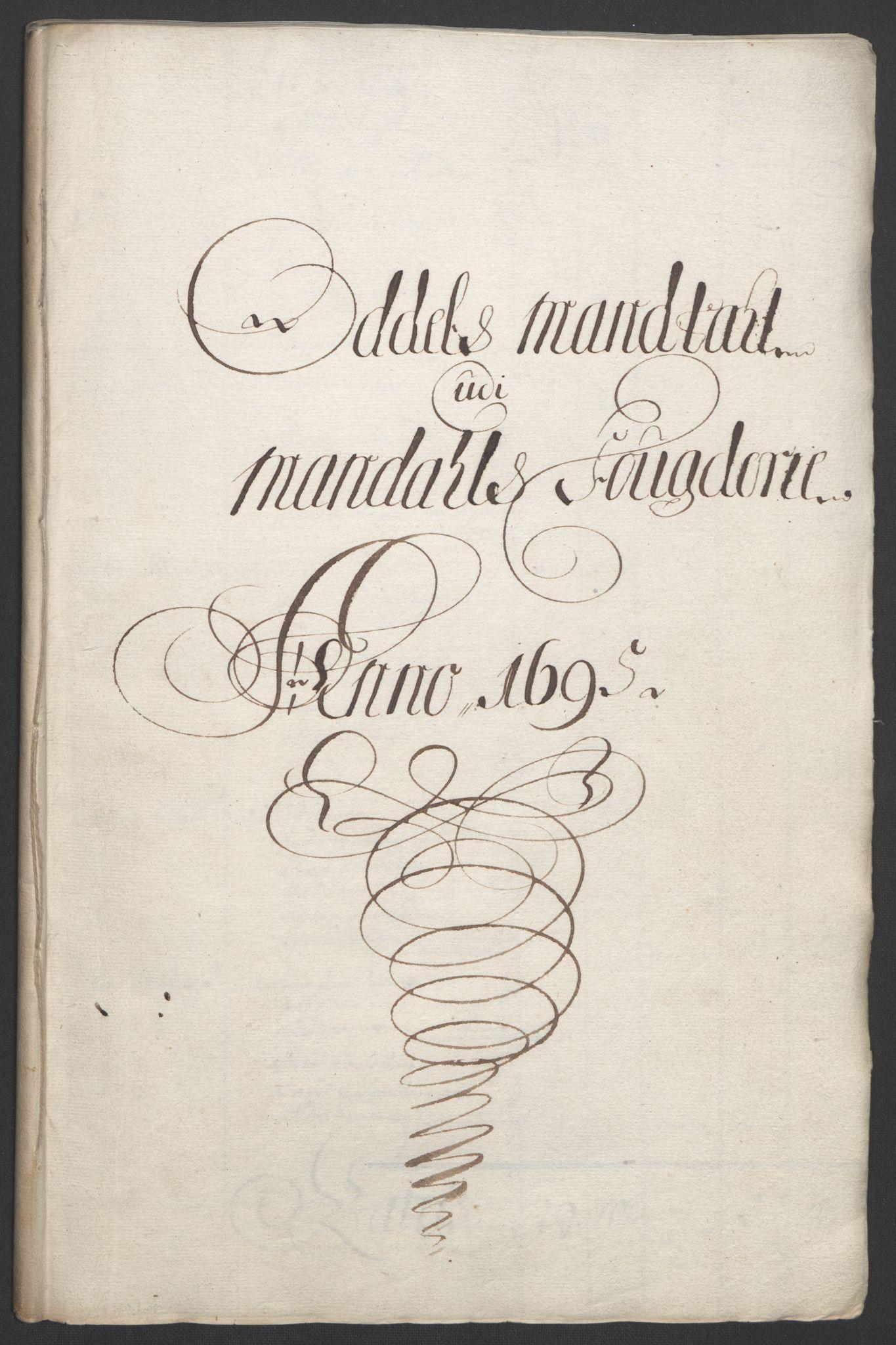 RA, Rentekammeret inntil 1814, Reviderte regnskaper, Fogderegnskap, R43/L2545: Fogderegnskap Lista og Mandal, 1694-1695, s. 310