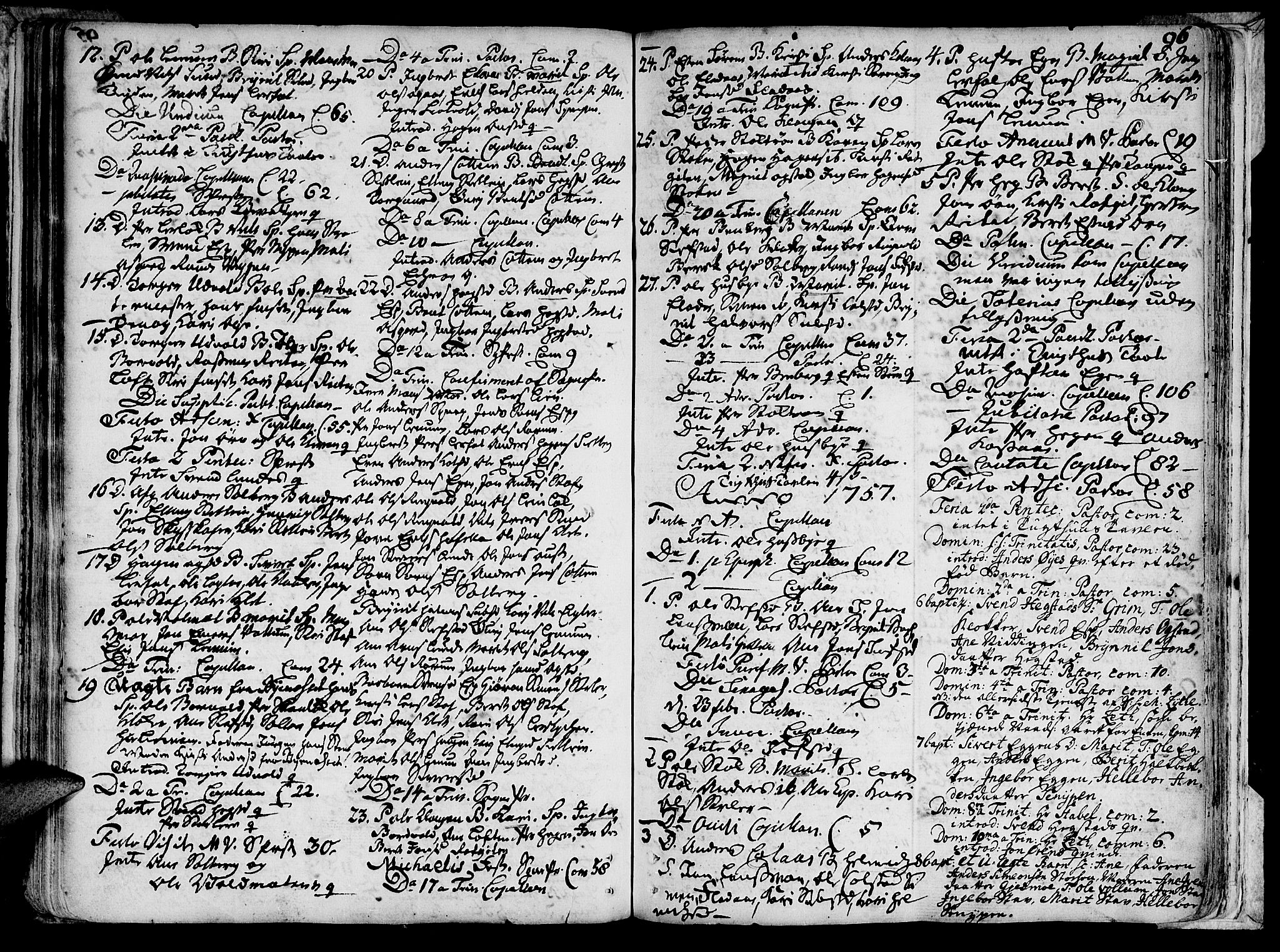 SAT, Ministerialprotokoller, klokkerbøker og fødselsregistre - Sør-Trøndelag, 691/L1059: Ministerialbok nr. 691A01 /3, 1740-1767, s. 96