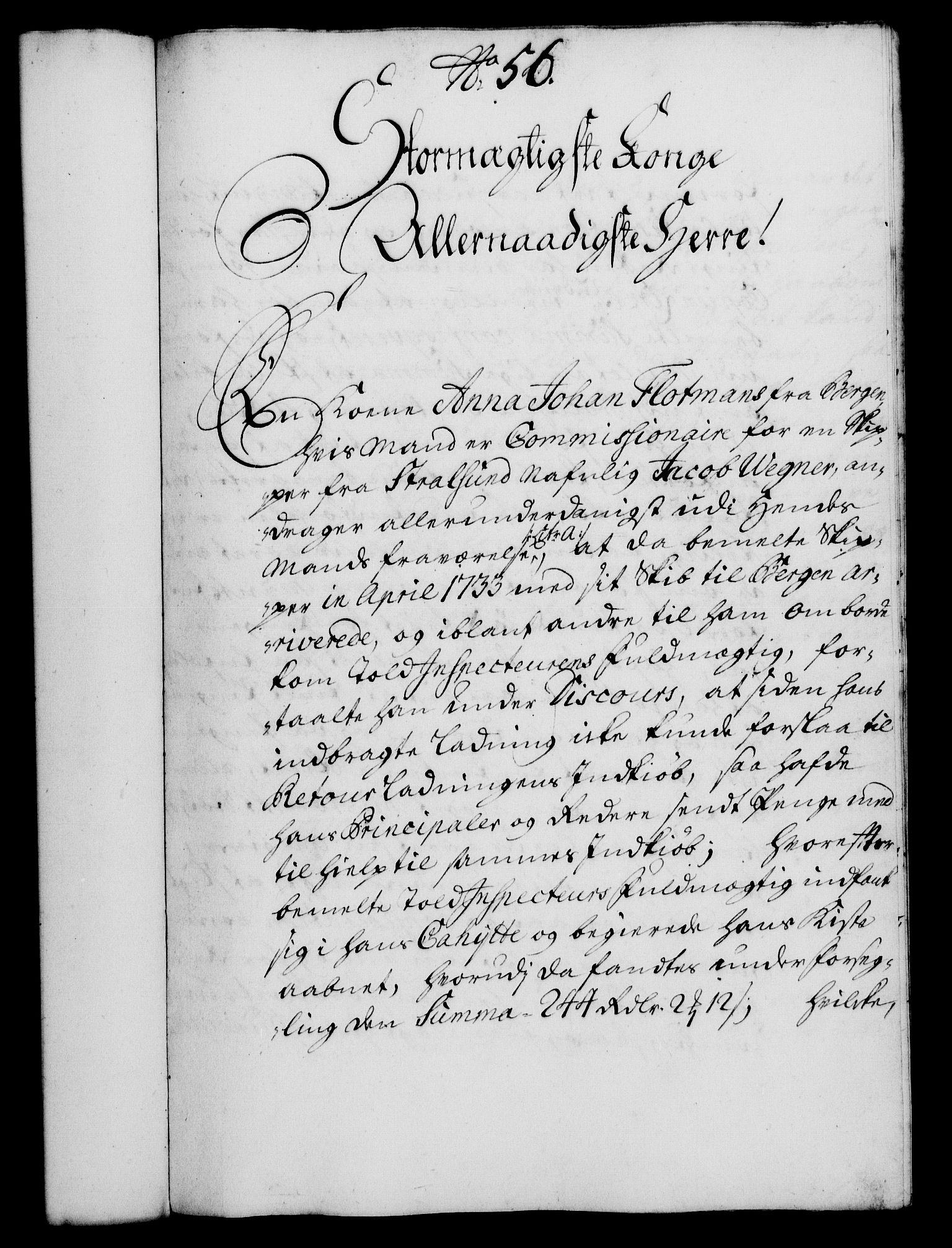RA, Rentekammeret, Kammerkanselliet, G/Gf/Gfa/L0017: Norsk relasjons- og resolusjonsprotokoll (merket RK 52.17), 1734, s. 292