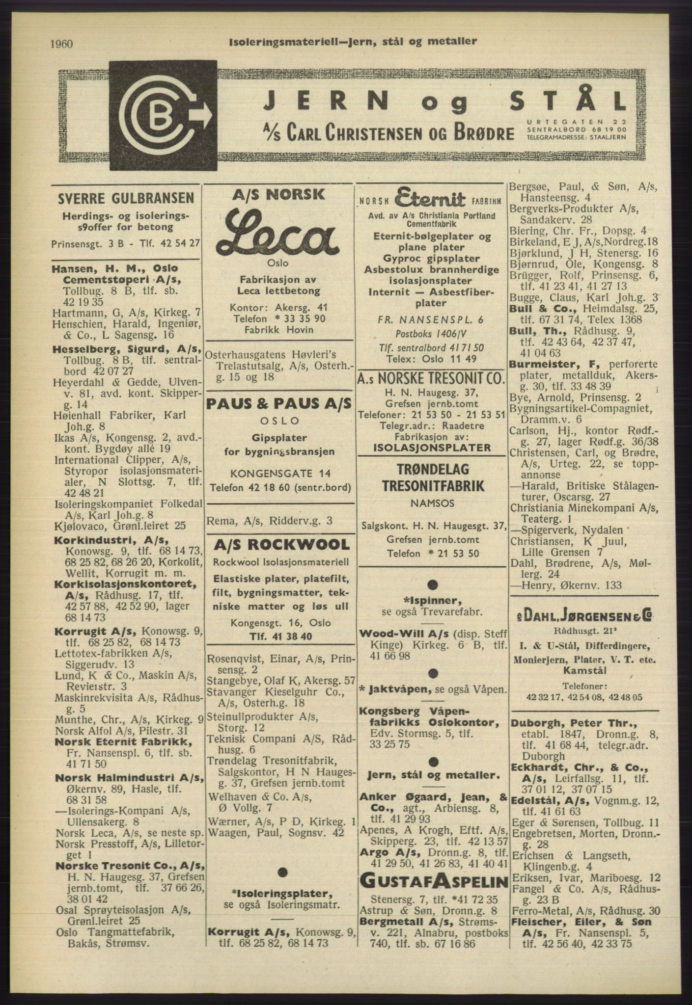 RA, Oslo adressebok (publikasjon)*, 1960-1961, s. 1960
