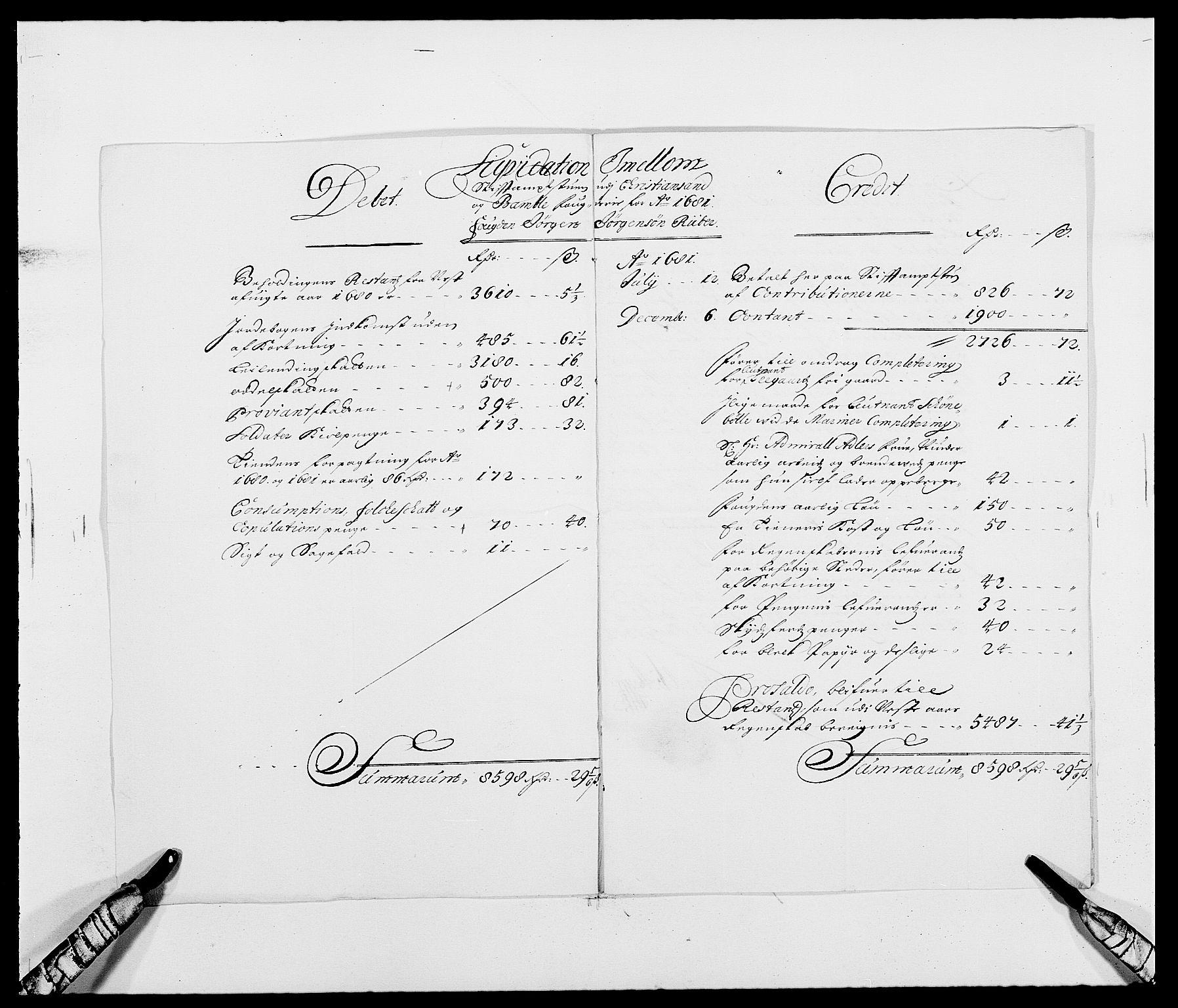 RA, Rentekammeret inntil 1814, Reviderte regnskaper, Fogderegnskap, R34/L2045: Fogderegnskap Bamble, 1680-1681, s. 374
