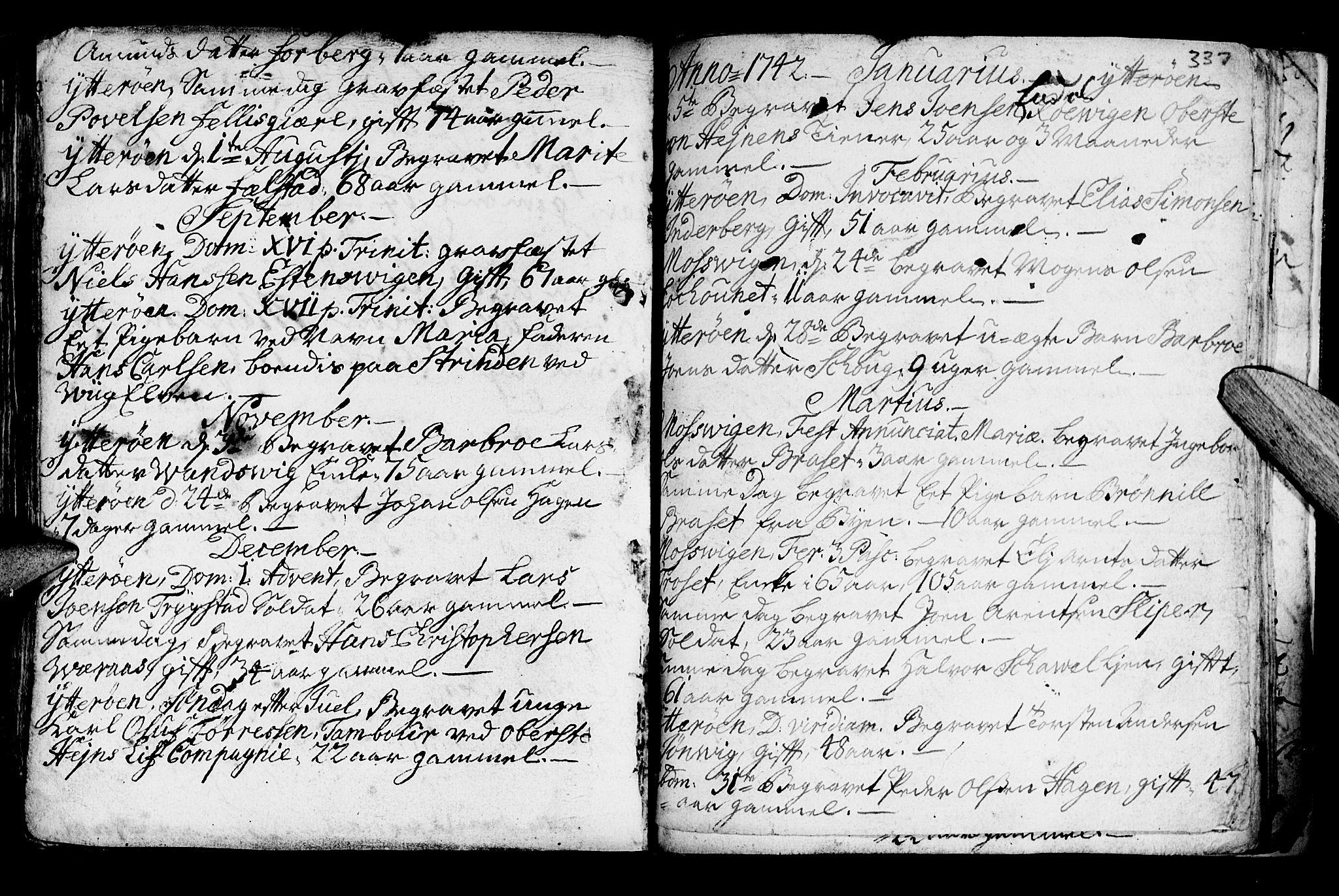 SAT, Ministerialprotokoller, klokkerbøker og fødselsregistre - Nord-Trøndelag, 722/L0215: Ministerialbok nr. 722A02, 1718-1755, s. 337