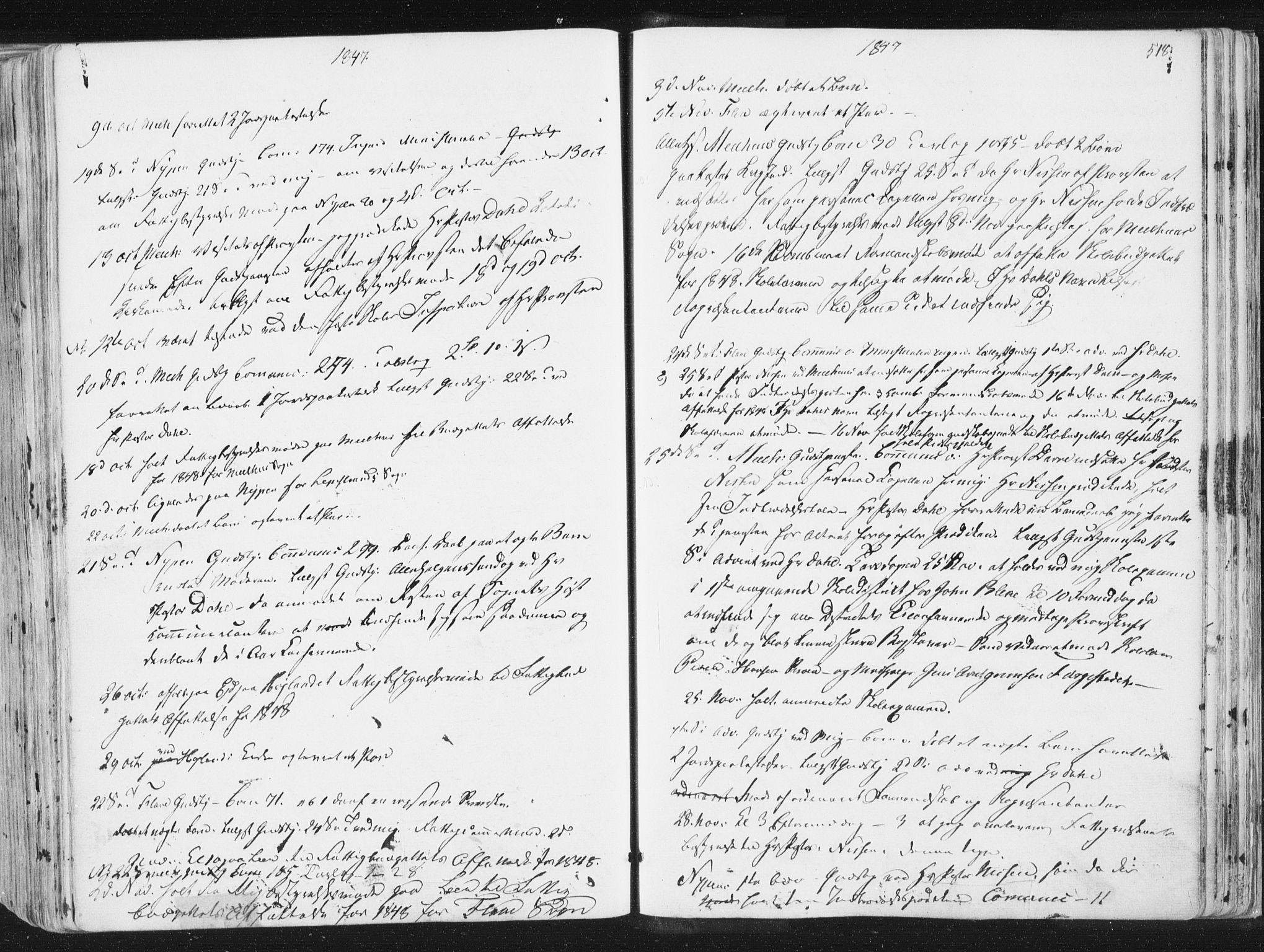 SAT, Ministerialprotokoller, klokkerbøker og fødselsregistre - Sør-Trøndelag, 691/L1074: Ministerialbok nr. 691A06, 1842-1852, s. 518